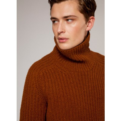 Fisherman out of Ireland Rib Chuncky Polo Neck Sweater
