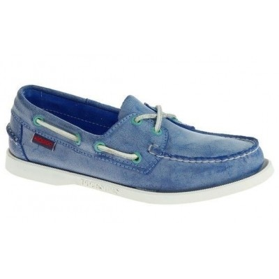 Sebago Docksides Blue Waxed Suede