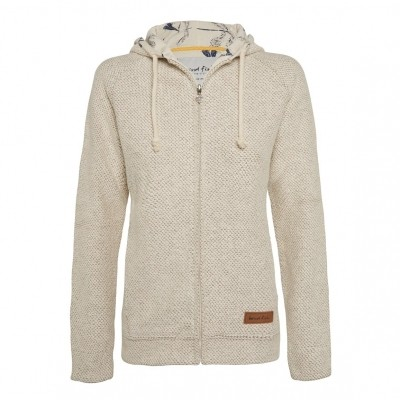Foto van Weird Fish chicoa full zip macaroni hoody ecru