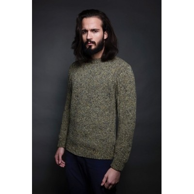 Fisherman out of Ireland Crew Neck ribbed detailing