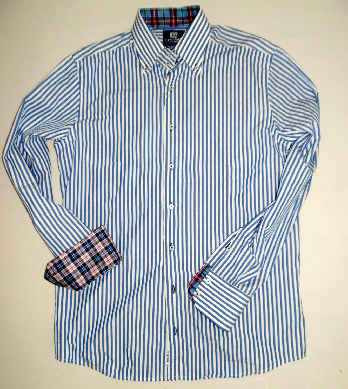 Foto van City of Sails Overhemd (blauw streep)