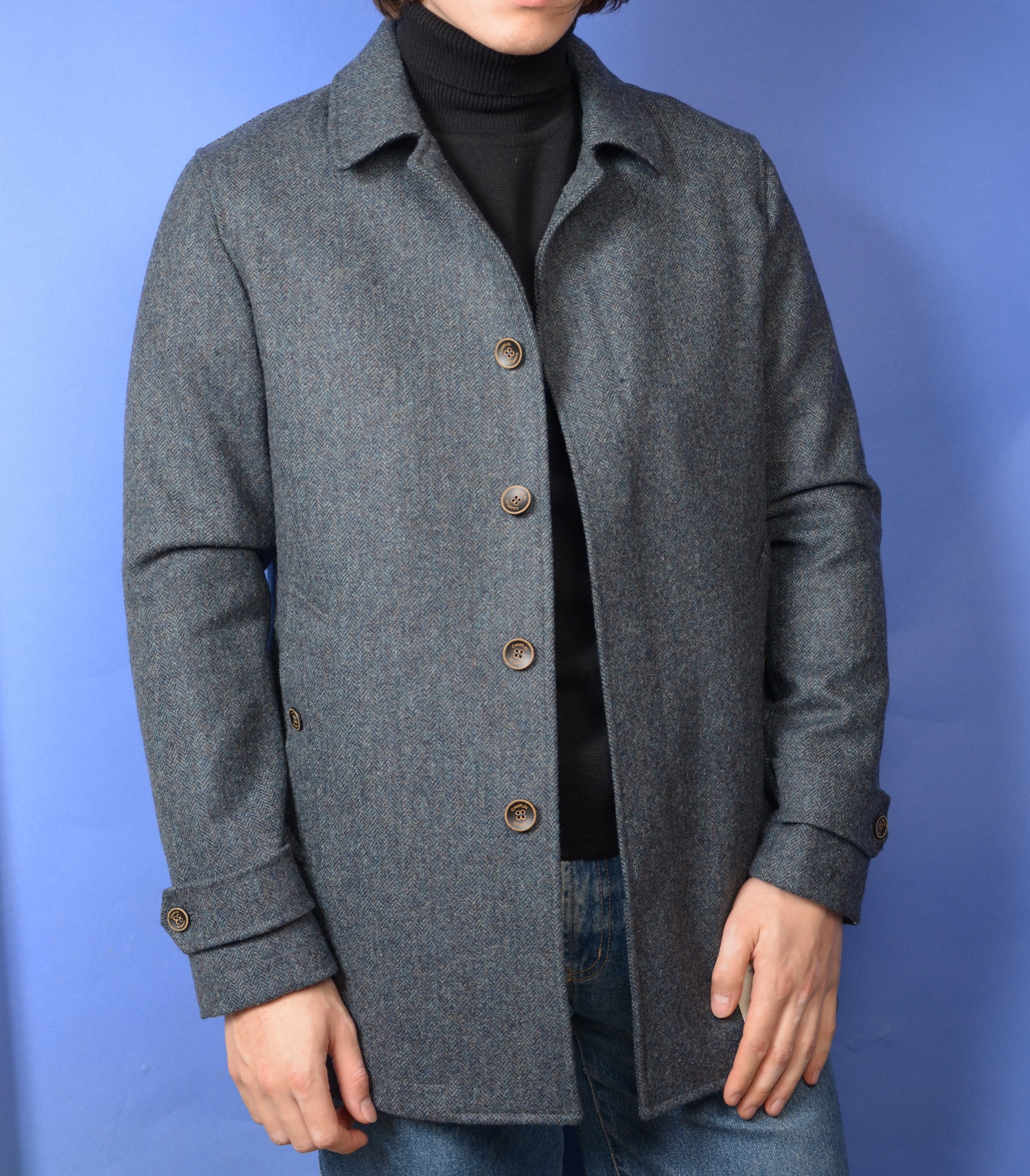 Foto van Camplin Overcoat Moon Tweed