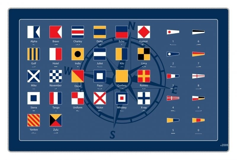 Foto van Placemat seinvlaggen