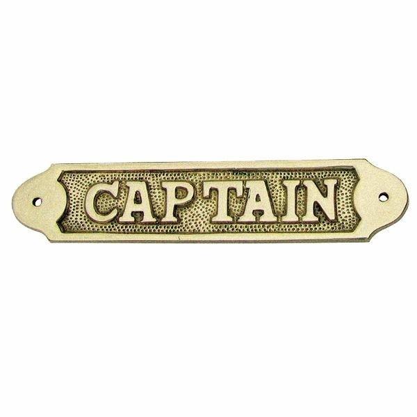 Foto van Naamplaat messing Captain