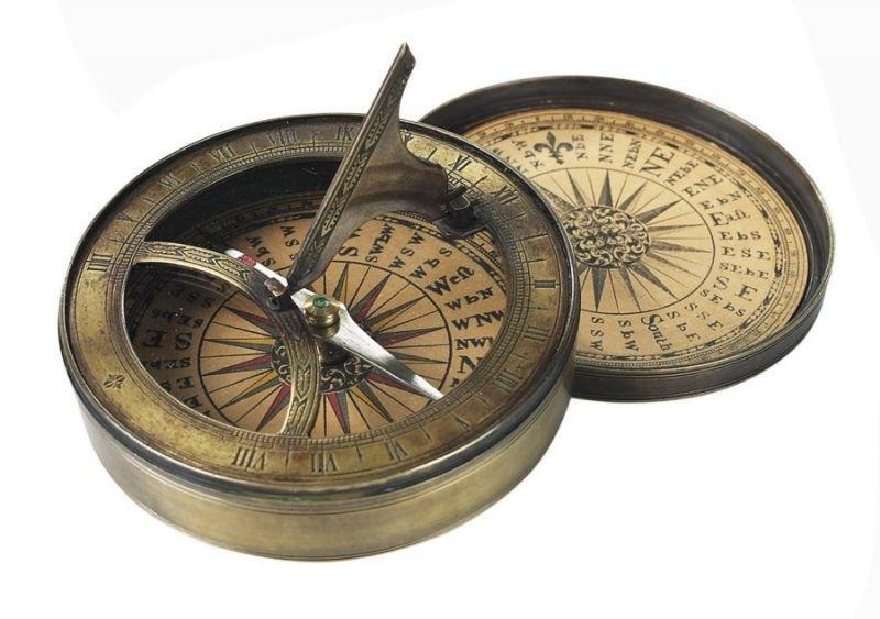 Foto van Zonnewijzer kompas