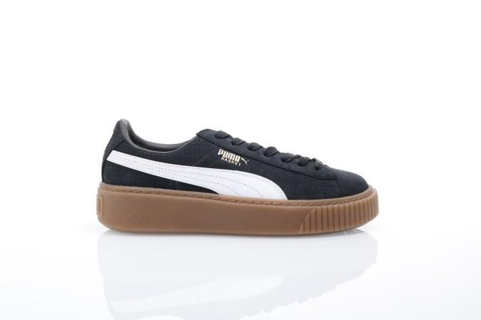 Foto van Puma Ladies 366807-02 Sneakers Basket platform perf gum Zwart