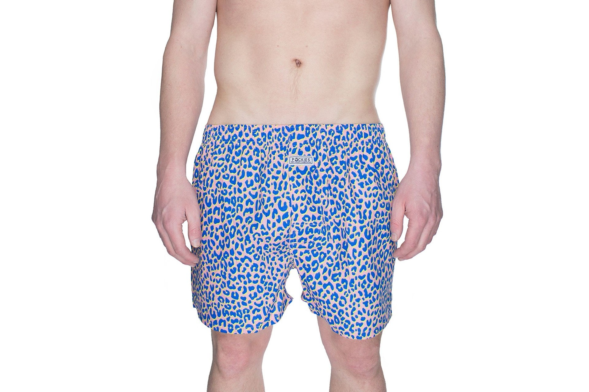Foto van Pockies Boxershort Tony Junior Pink - Blue - Yellow
