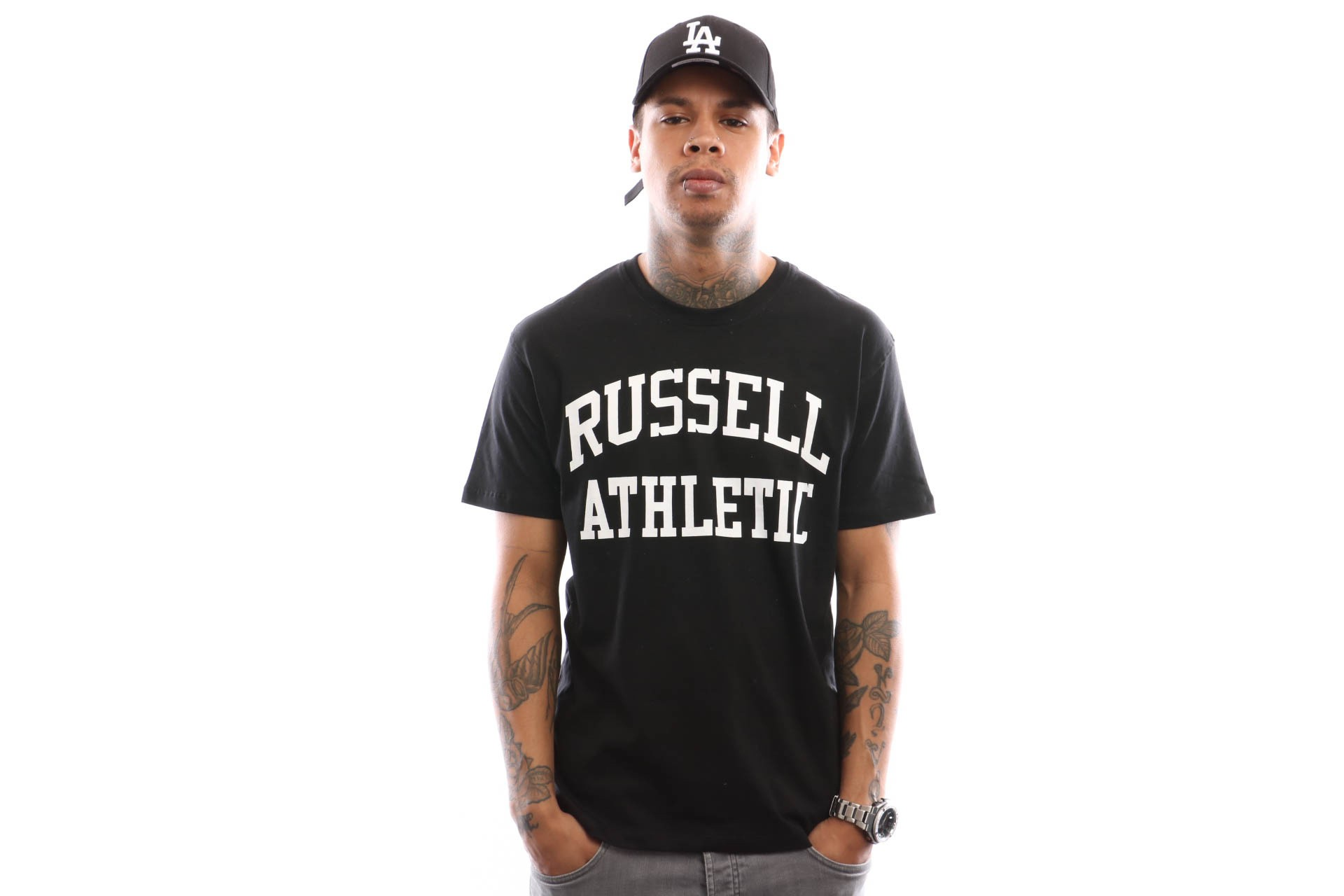 Foto van Russell Athletic Iconic Short Sleeve A9-002-1 T Shirt Black
