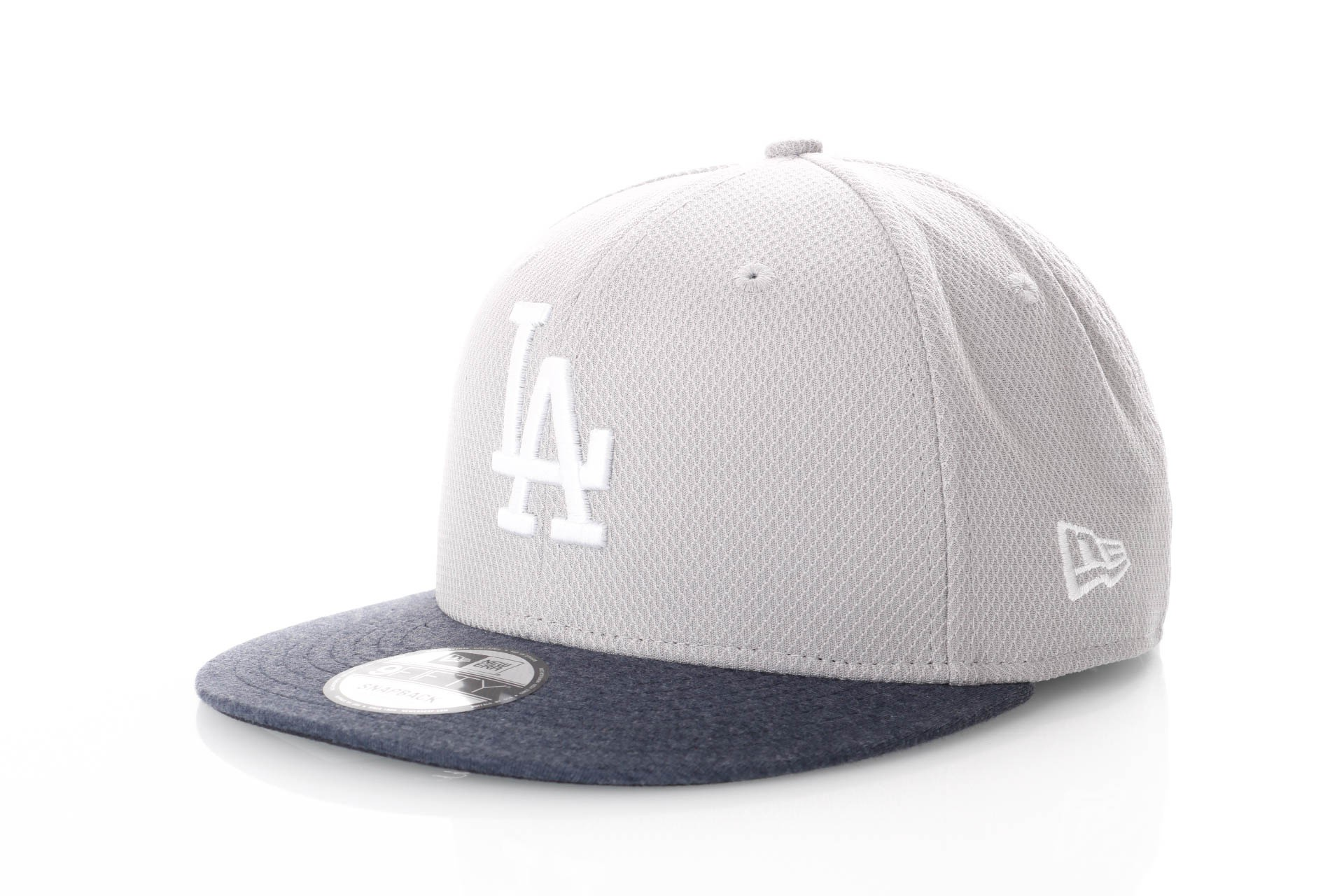 Foto van New Era Jersey Diamond Mix 80371316 Snapback Cap Grey/Navy La Dodgers