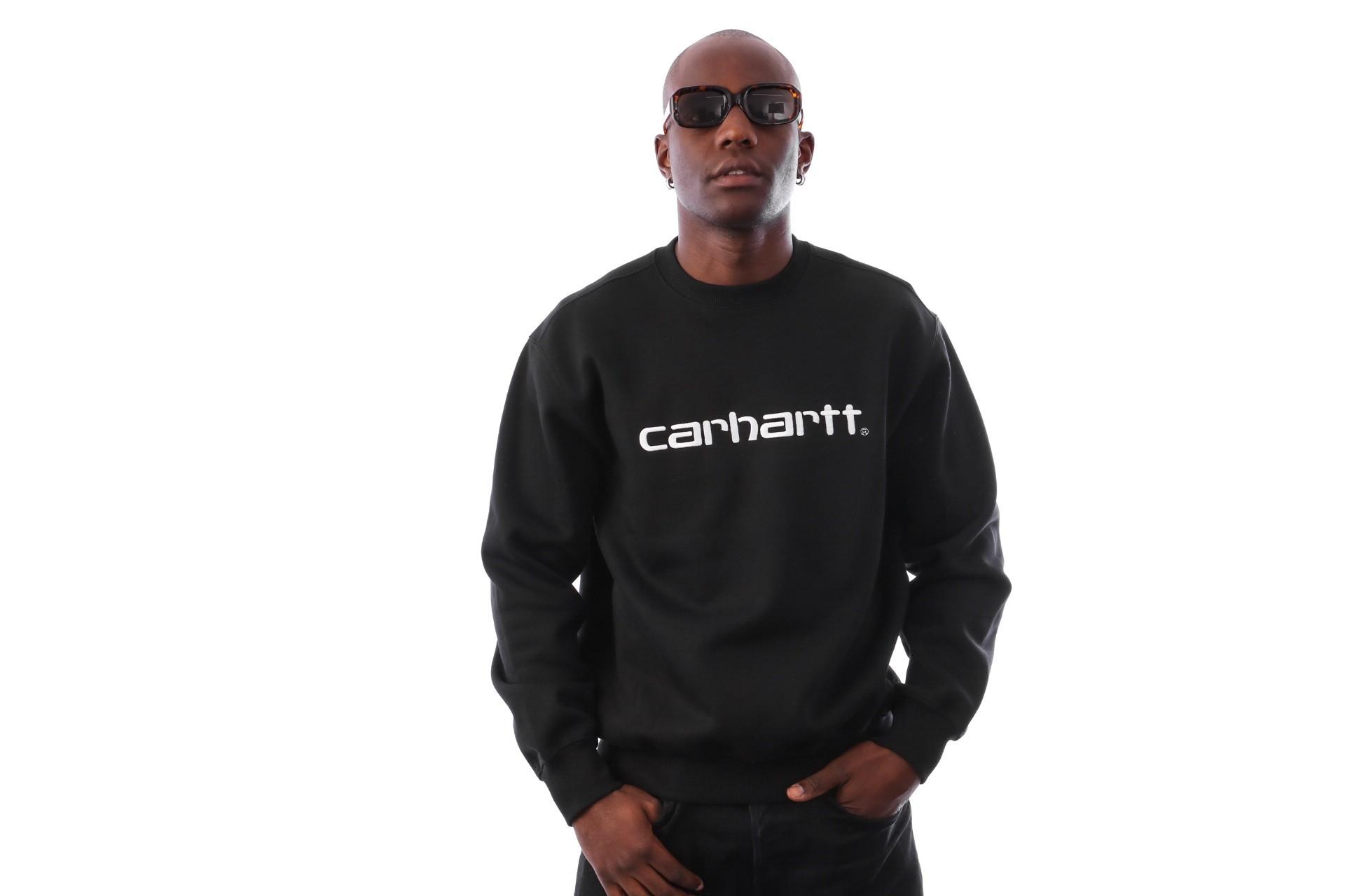 Foto van Carhartt WIP Carhartt Sweatshirt I025478 Crewneck Black / White