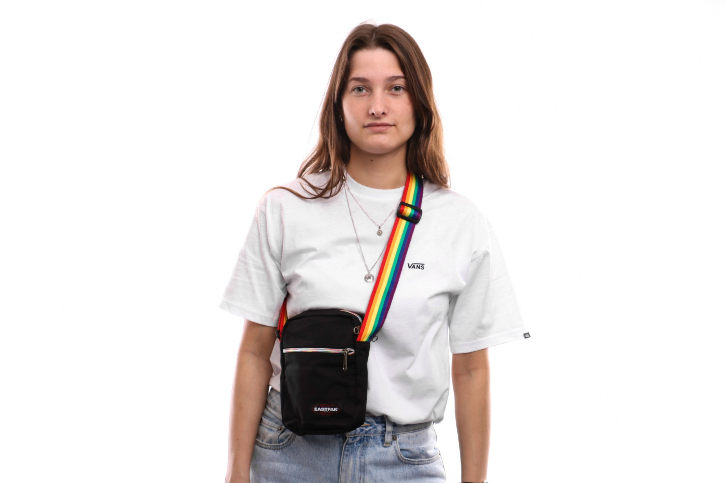Foto van Eastpak The One EK04573Z Schoudertas Rainbow Black