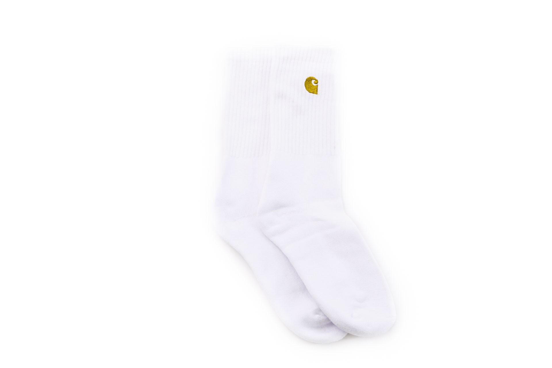 Foto van Carhartt Wip Chase Socks I026527 Sokken White / Gold
