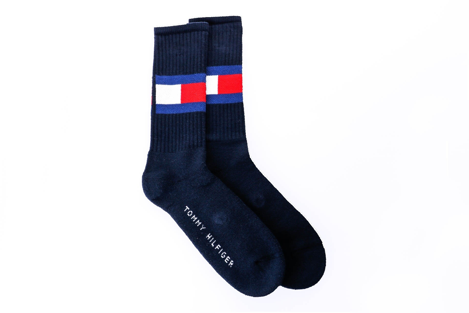 Foto van Tommy Hilfiger TH FLAG 1P 481985001 sokken dark navy