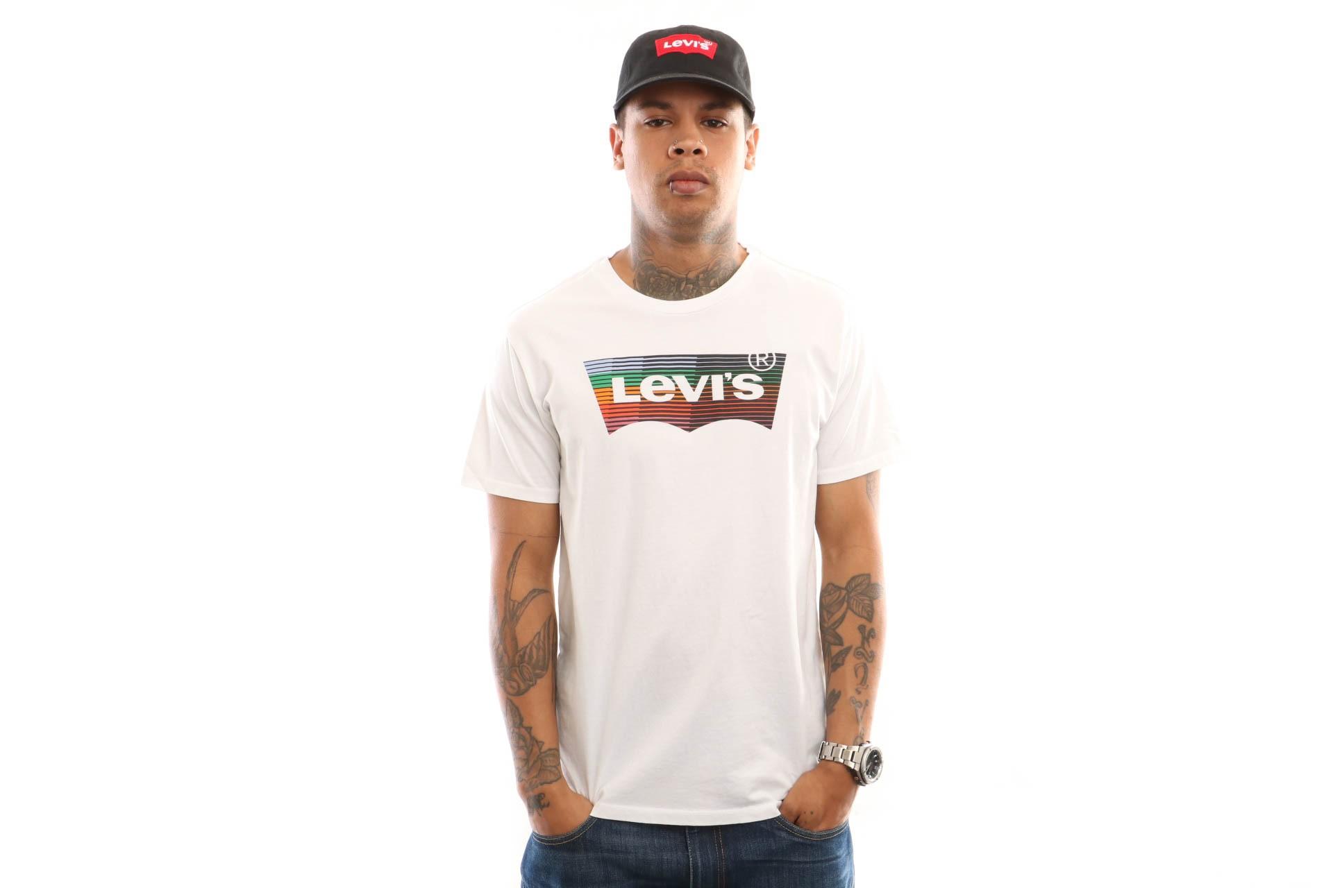 Foto van Levi'S Housemark Graphic Tee 22489-0207 T Shirt Hm Ssnl White