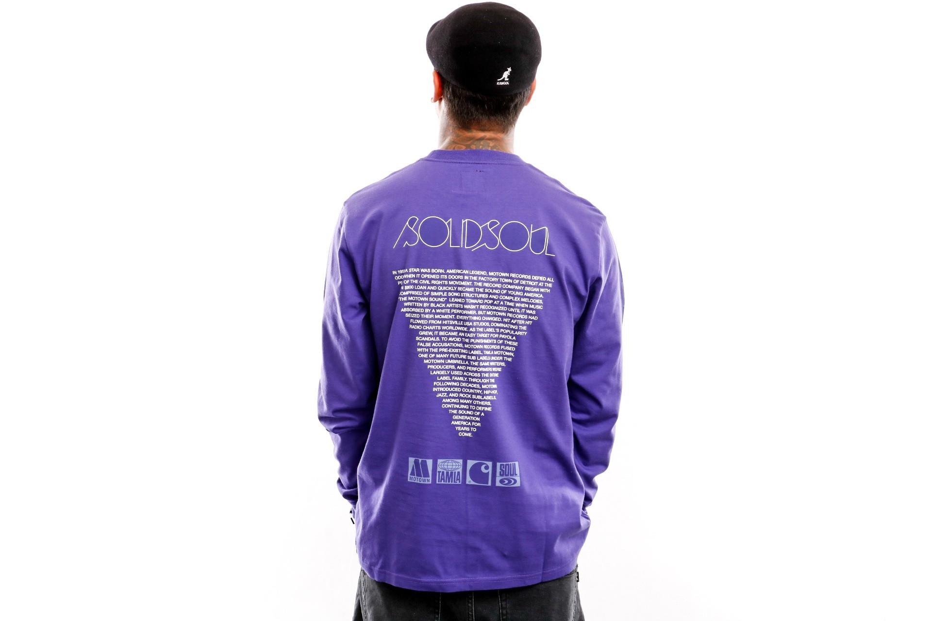 Foto van Carhartt WIP Longsleeve L/S Motown Sublabels T-Shirt Prism Violet I027851