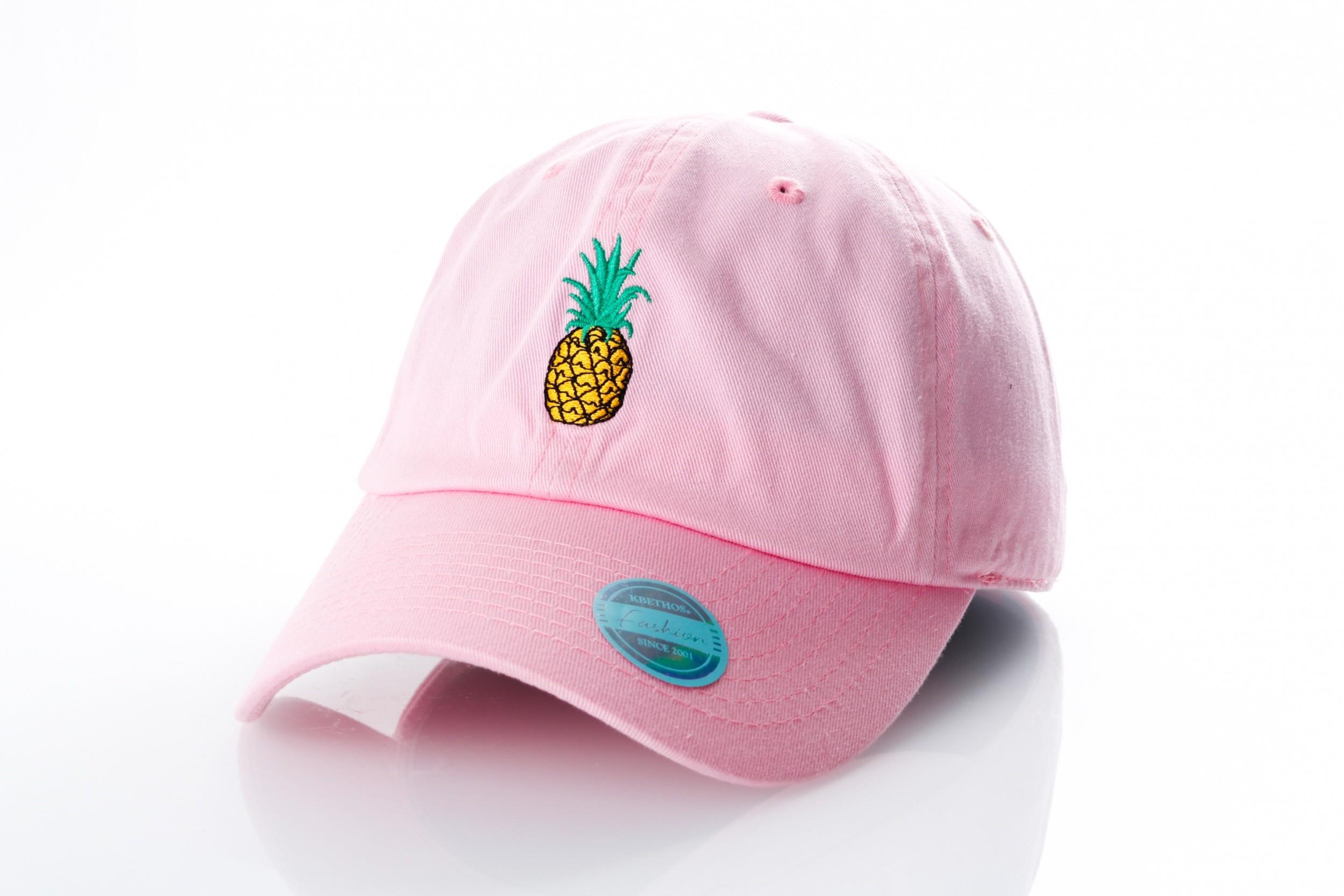 Foto van Ethos Pineapple KBSV-021 pink KBSV-021 dad cap pink
