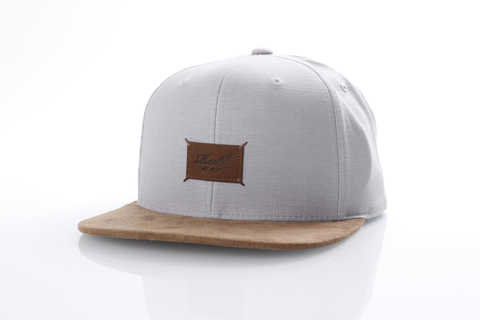 Afbeelding van Reell Snapback cap Suede 6-Panel Light Grey Slub