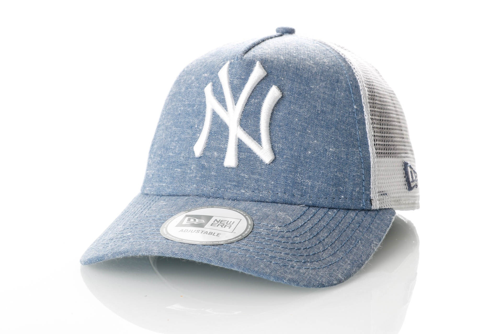 Afbeelding van New Era 11065843 Chambray Trucker New Era w York Yankees Team/White