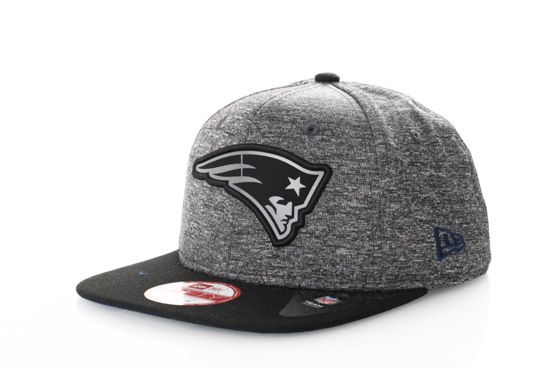 Foto van New Era Grey Collection Snapback Cap Grey Melange New England Patriots