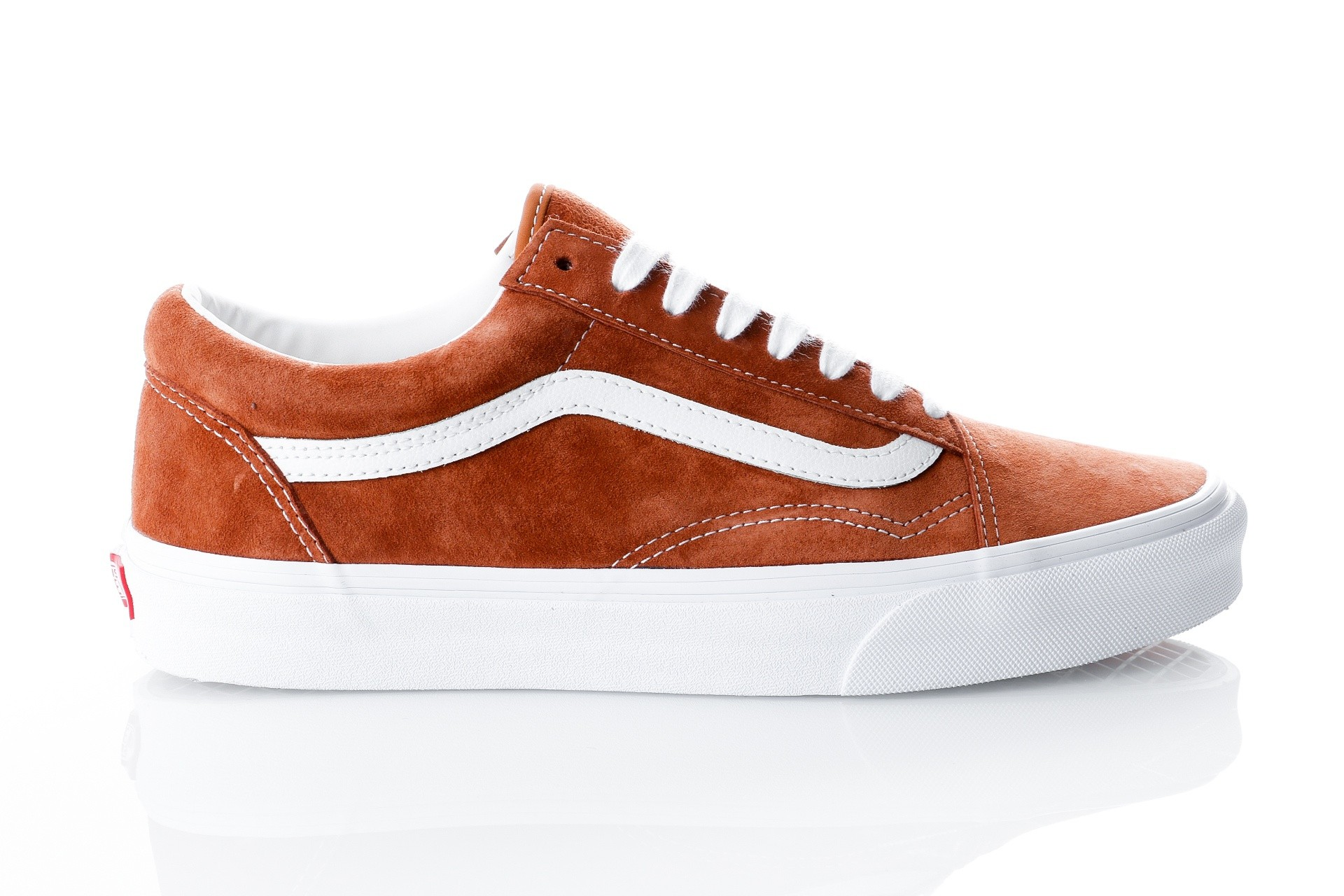 Foto van Vans UA Old Skool VA38G1U5K Sneakers (Pig Suede) leather brown/true white
