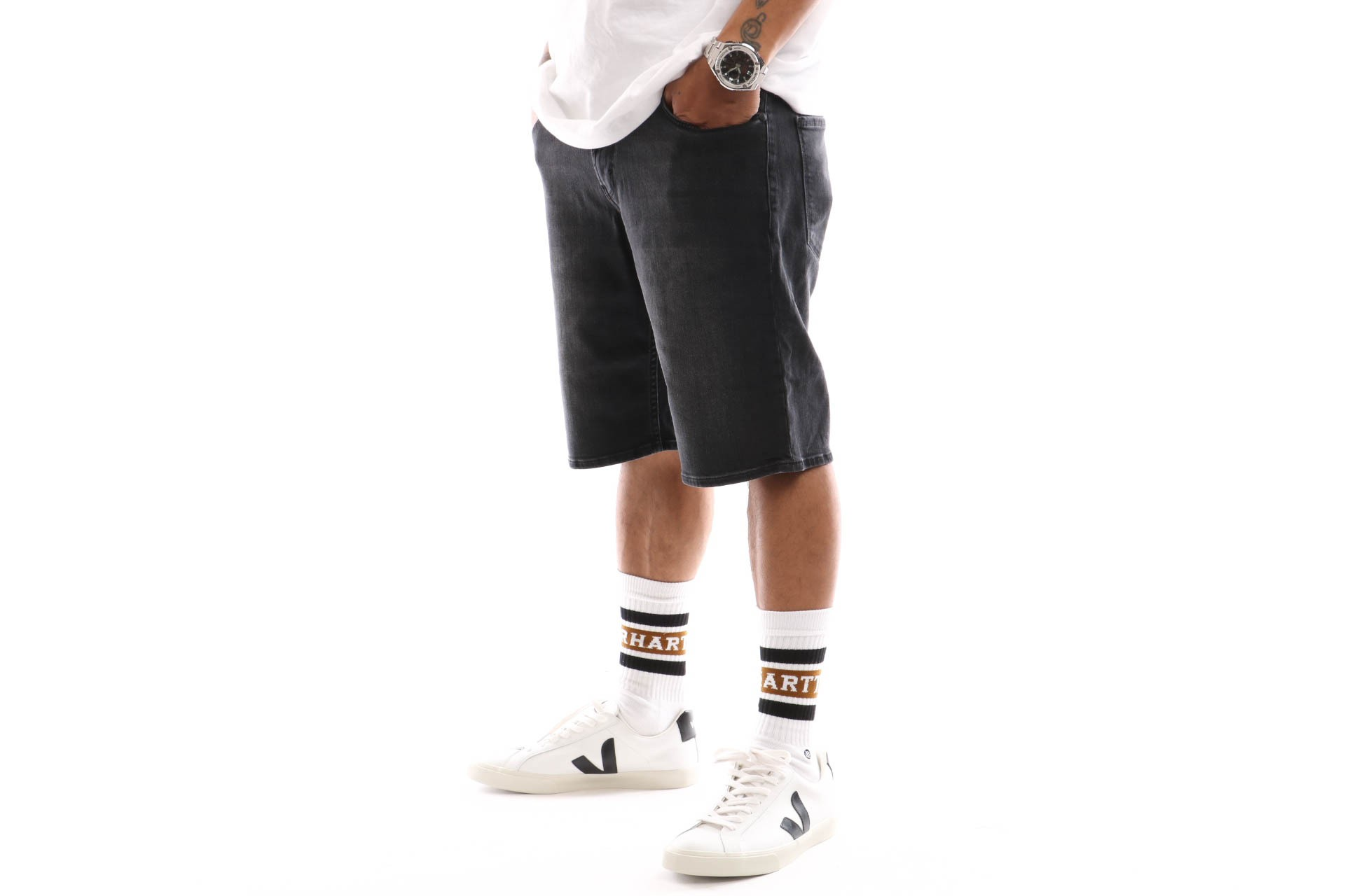 Foto van Reell Rafter Short 2 1201-007 Short Black Denim