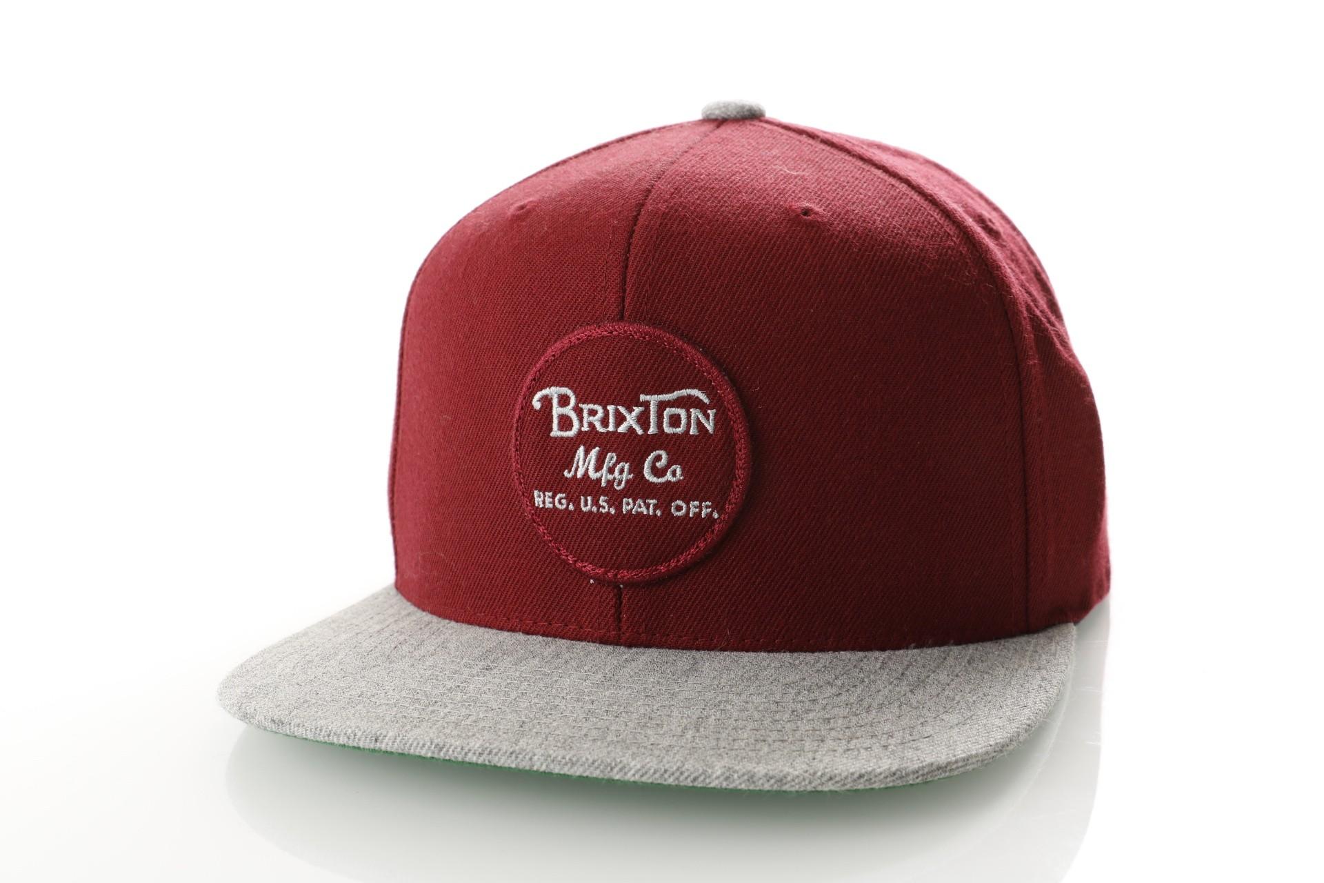 Afbeelding van Brixton WHEELER SNAPBACK 375 snapback cap BURGUNDY/BURGUNDY/HEATHER GREY