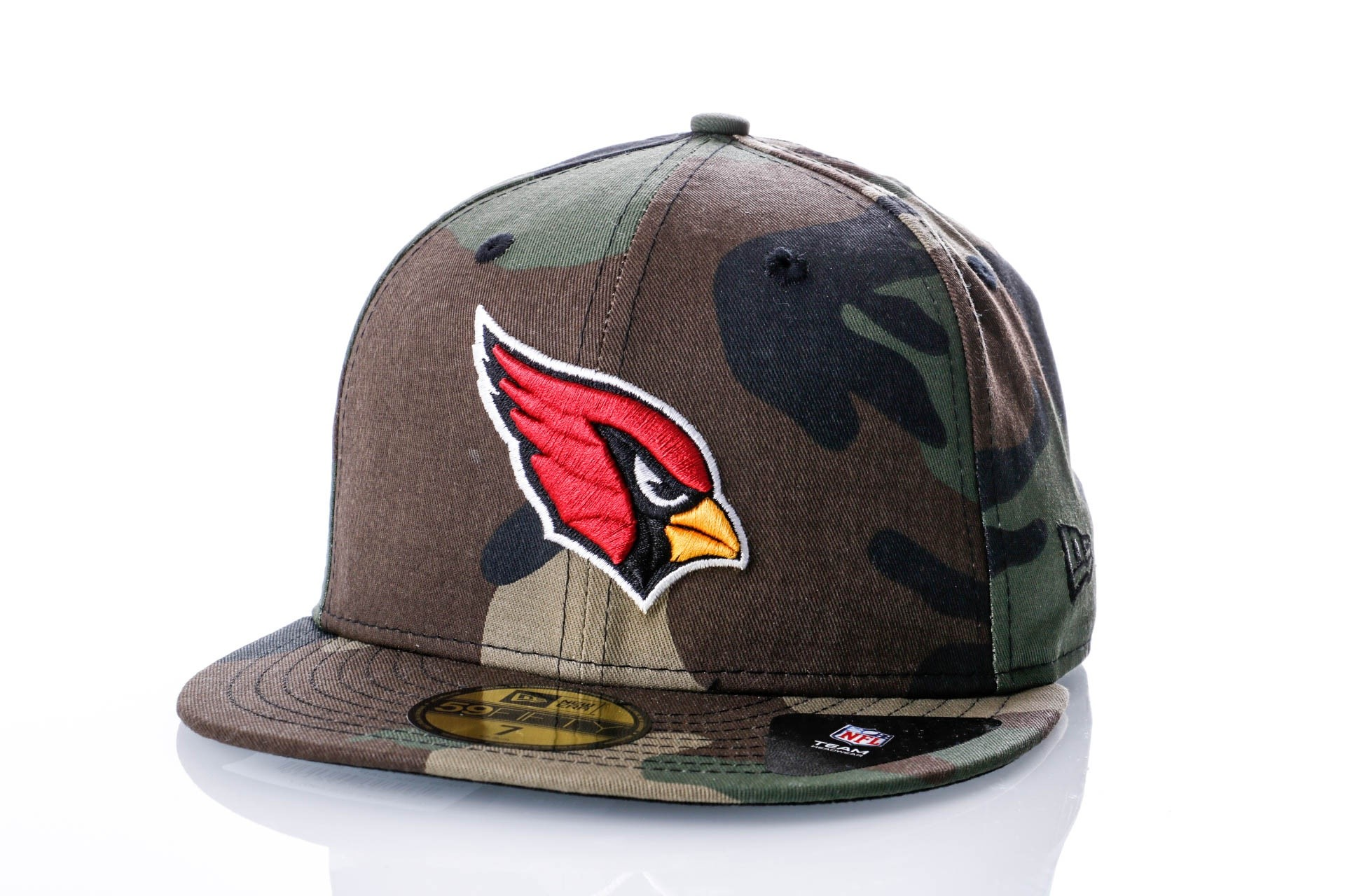Foto van New Era ESSENTIAL CAMO COLOR 59FIFTY ARIZONA CARDINALS 80636023 Fitted Cap WOODLAND CAMO Retro
