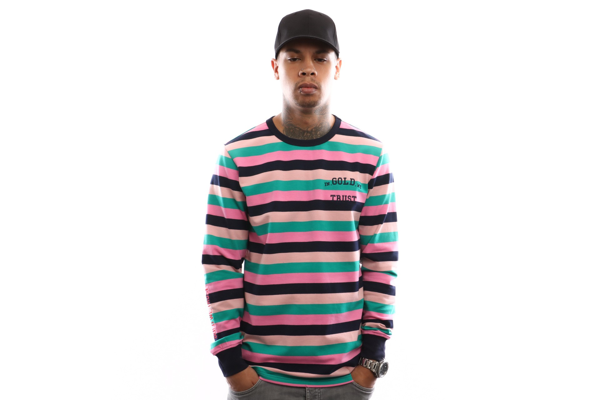 Foto van In Gold We Trust Striped Longsleeve FA-077 Longsleeve Multi