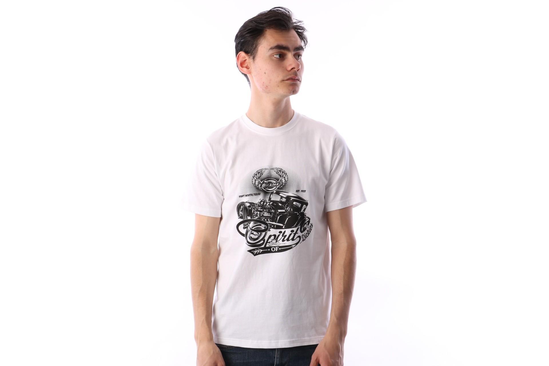 Foto van Dickies 06 210579-WH T-shirt Dodson Wit