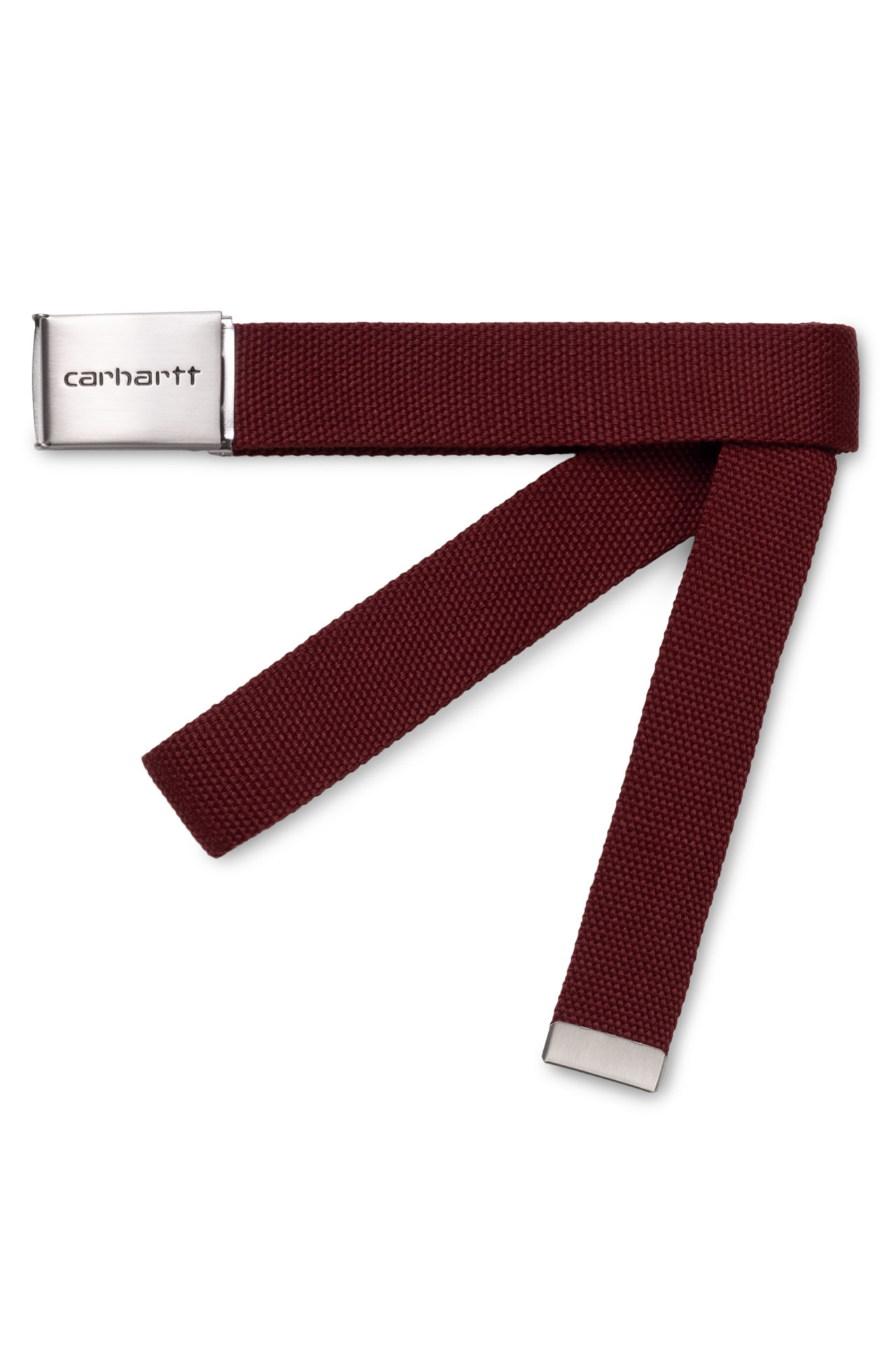 Foto van Carhartt Riem Clip Belt Chrome Bordeaux I019176