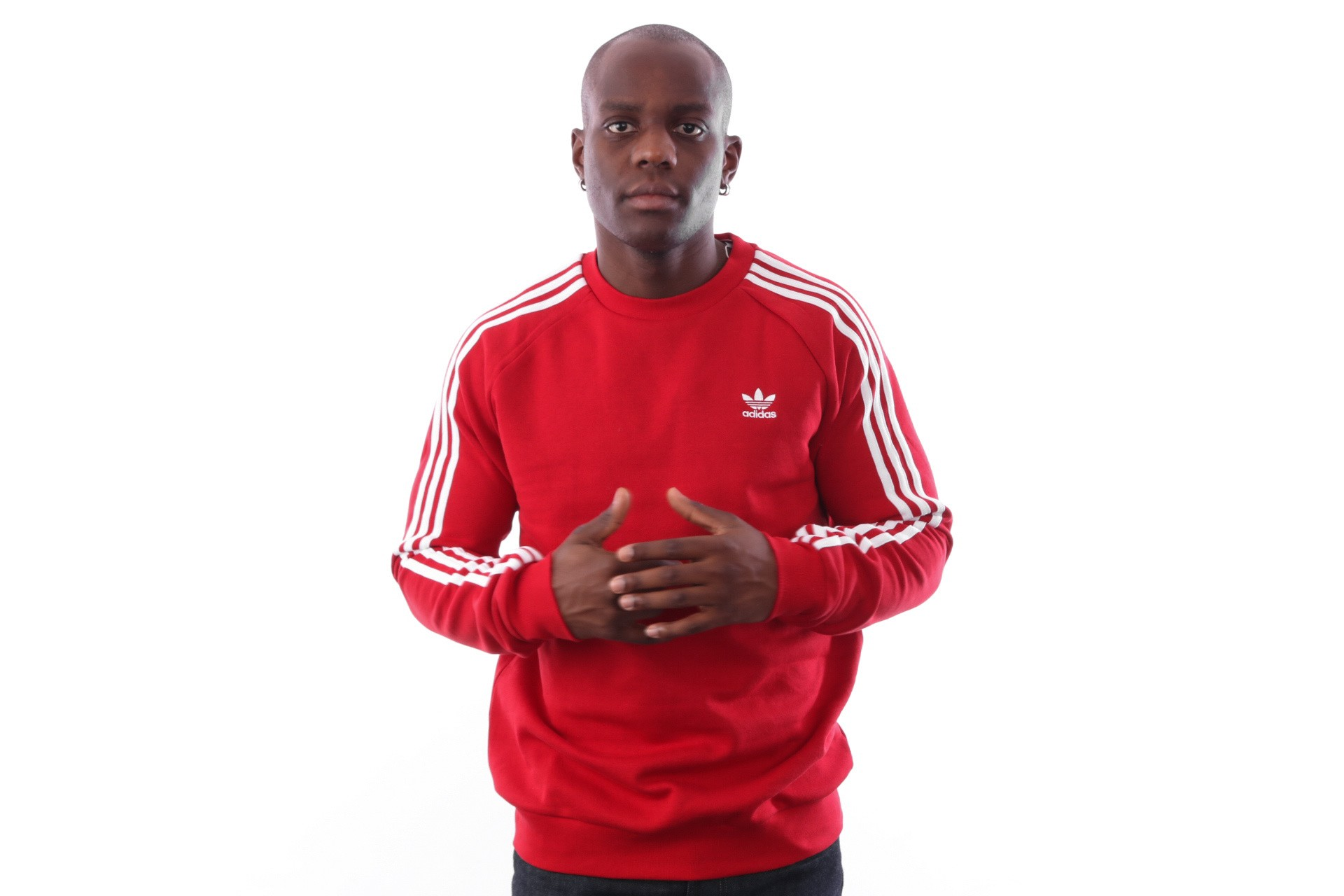 Foto van Adidas 3-STRIPES CREW DV1553 Crewneck power red