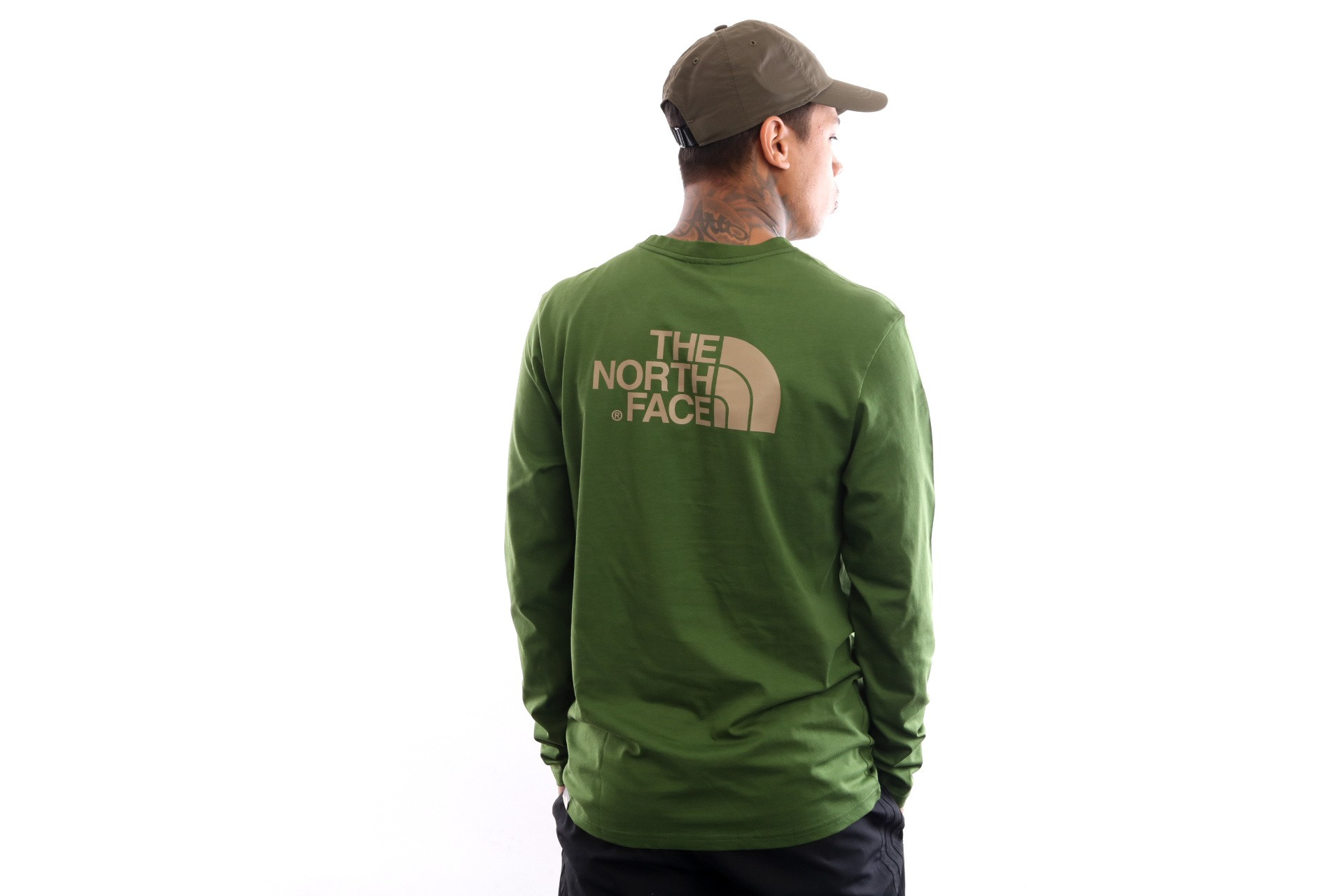 Foto van The North Face M L/S Easy Tee T92Tx1 Longsleeve Garden Green