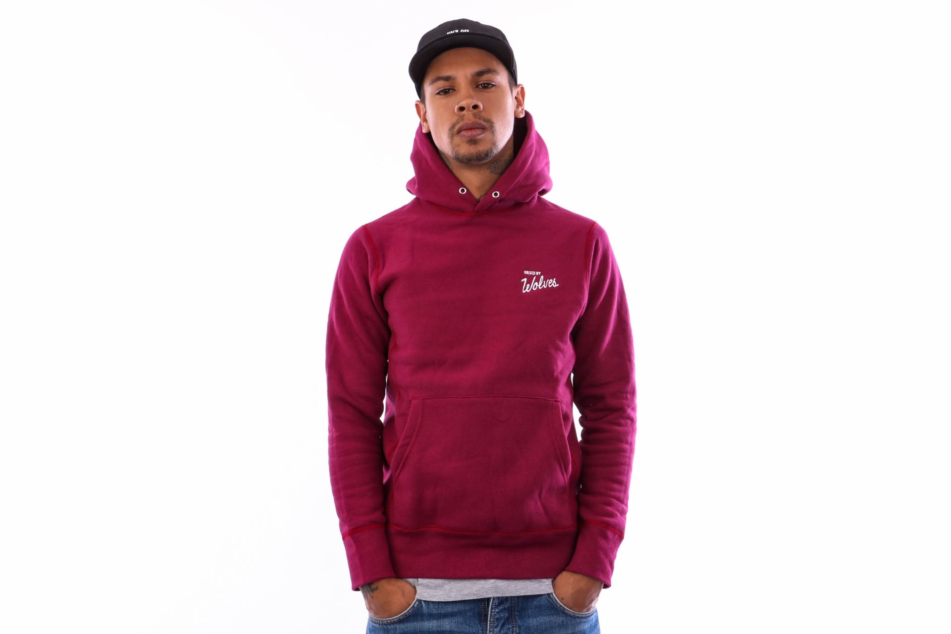 Foto van Raised by Wolves Vintage Varsity Hooded Sweatshirt RBWFW18401 Hooded Harvard Fleece