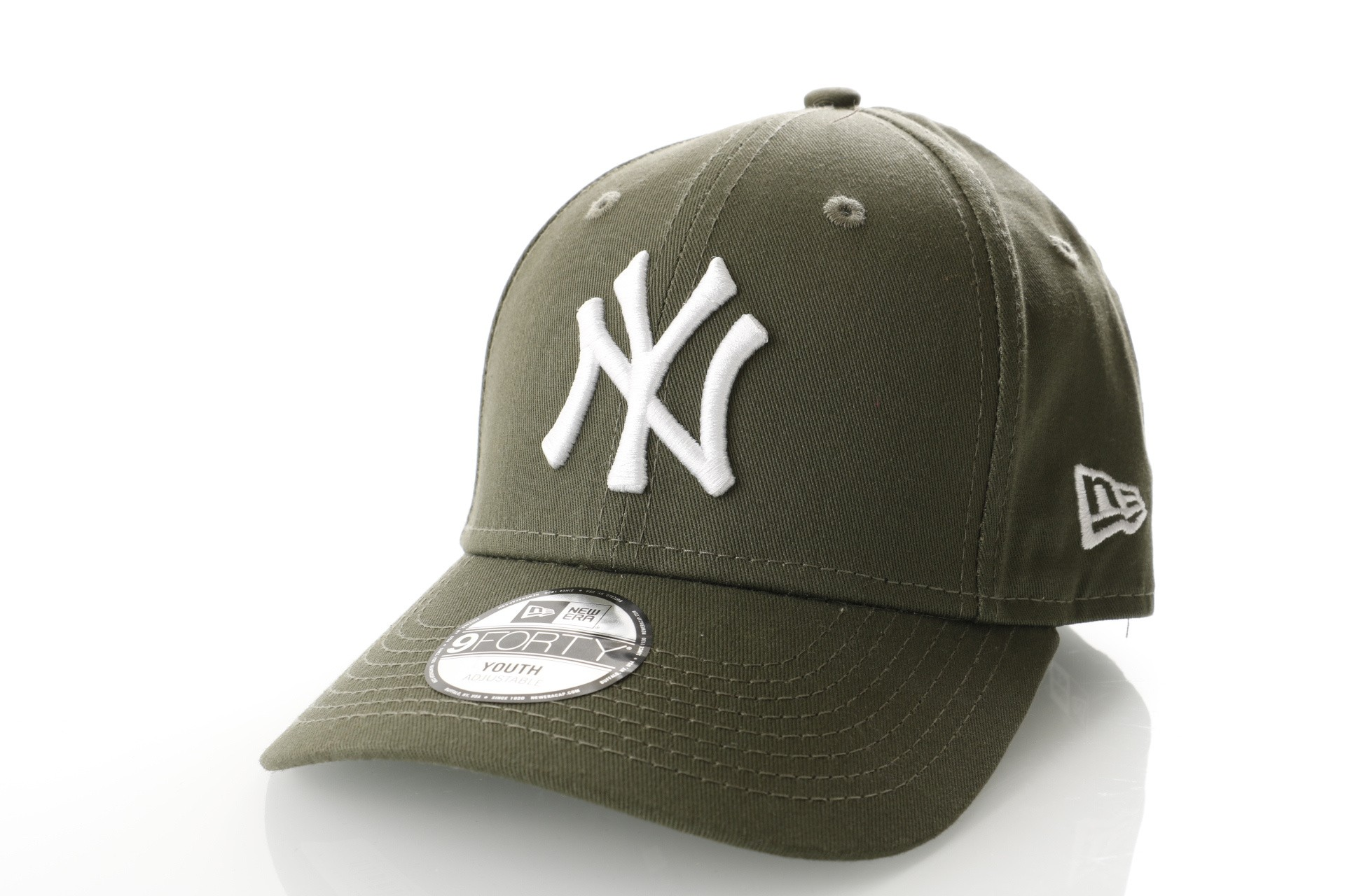 Foto van New Era KIDS LEAGUE ESSENTIAL 9FORTY NEW YORK YANKEES 80635914 dad cap NEW OLIVE/OPTIC WHITE MLB