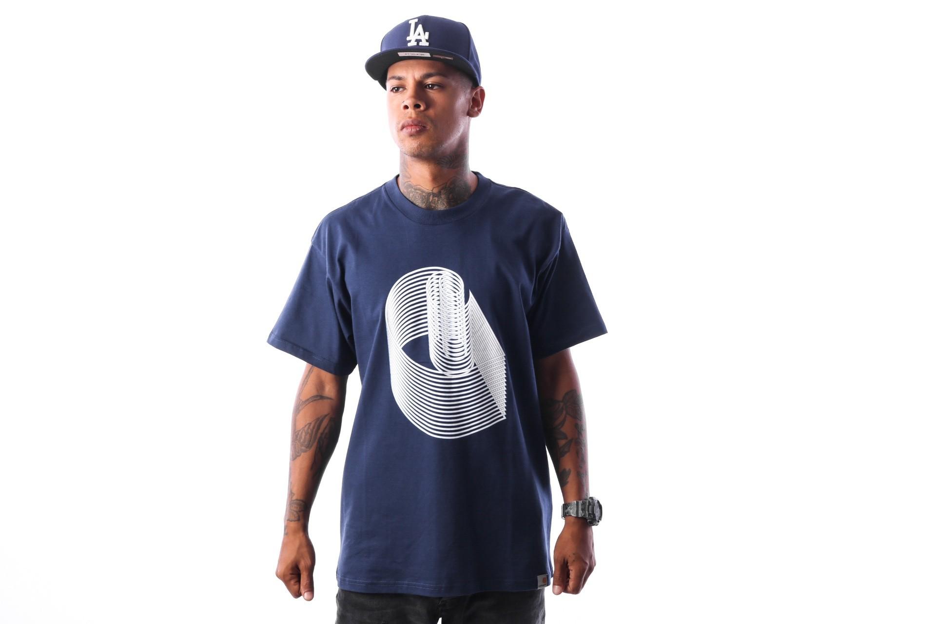 Foto van Carhartt WIP S/S C on C T-Shirt I025775 T-shirt Metro Blue