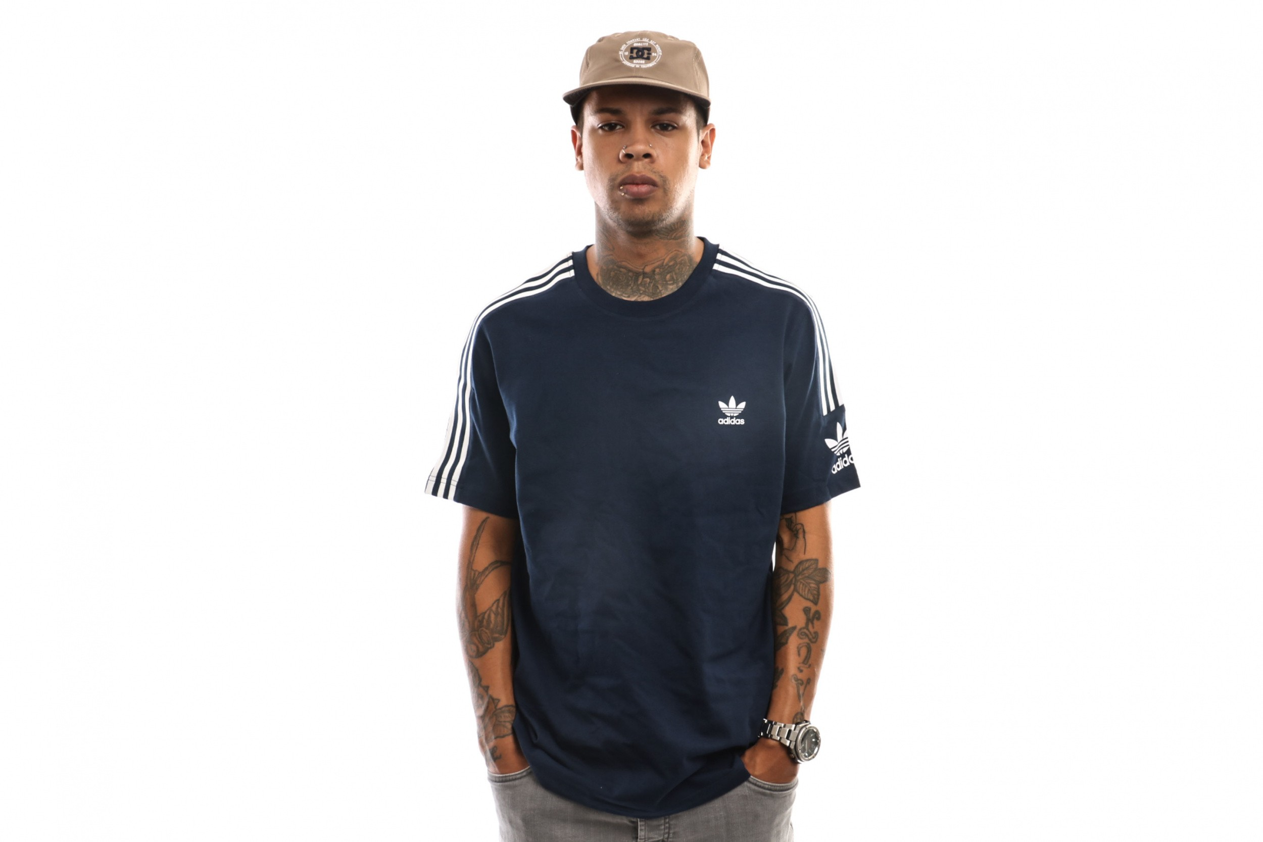 Foto van Adidas Lock Up Tee Ed6117 T Shirt Collegiate Navy