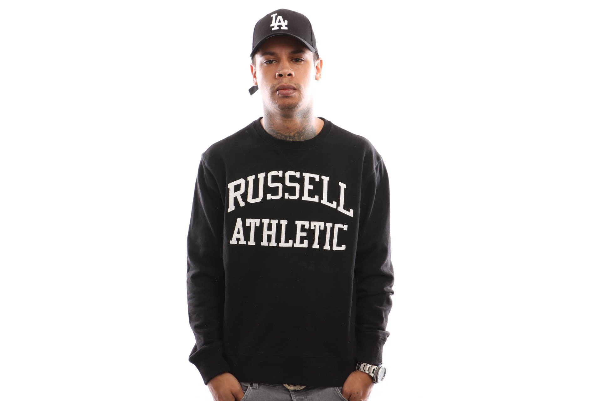 Foto van Russell Athletic Iconic Tackle Twill A9-003-1 Crewneck Black