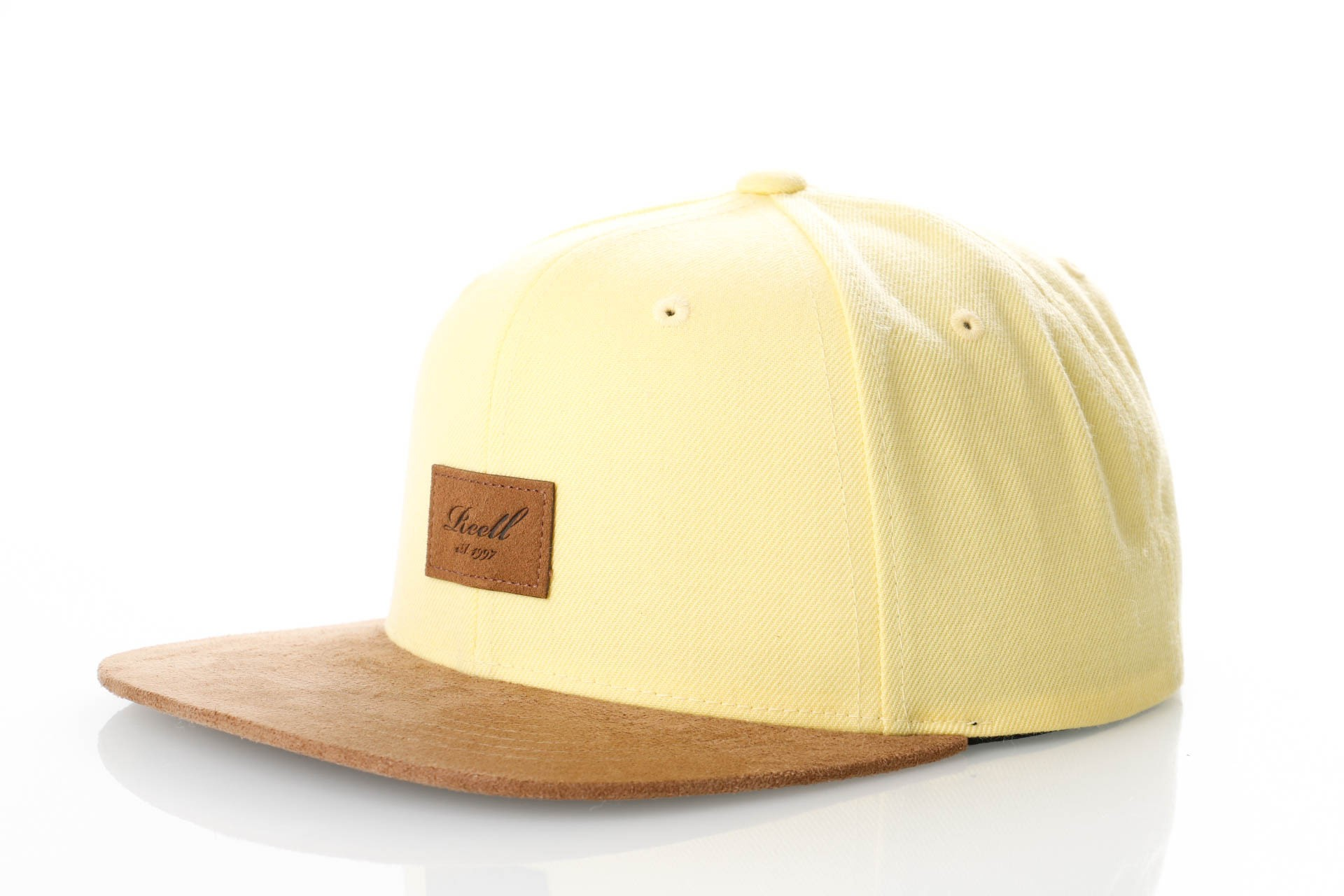 Foto van Reell Suede Cap 1402-038 Snapback Cap Light Yellow