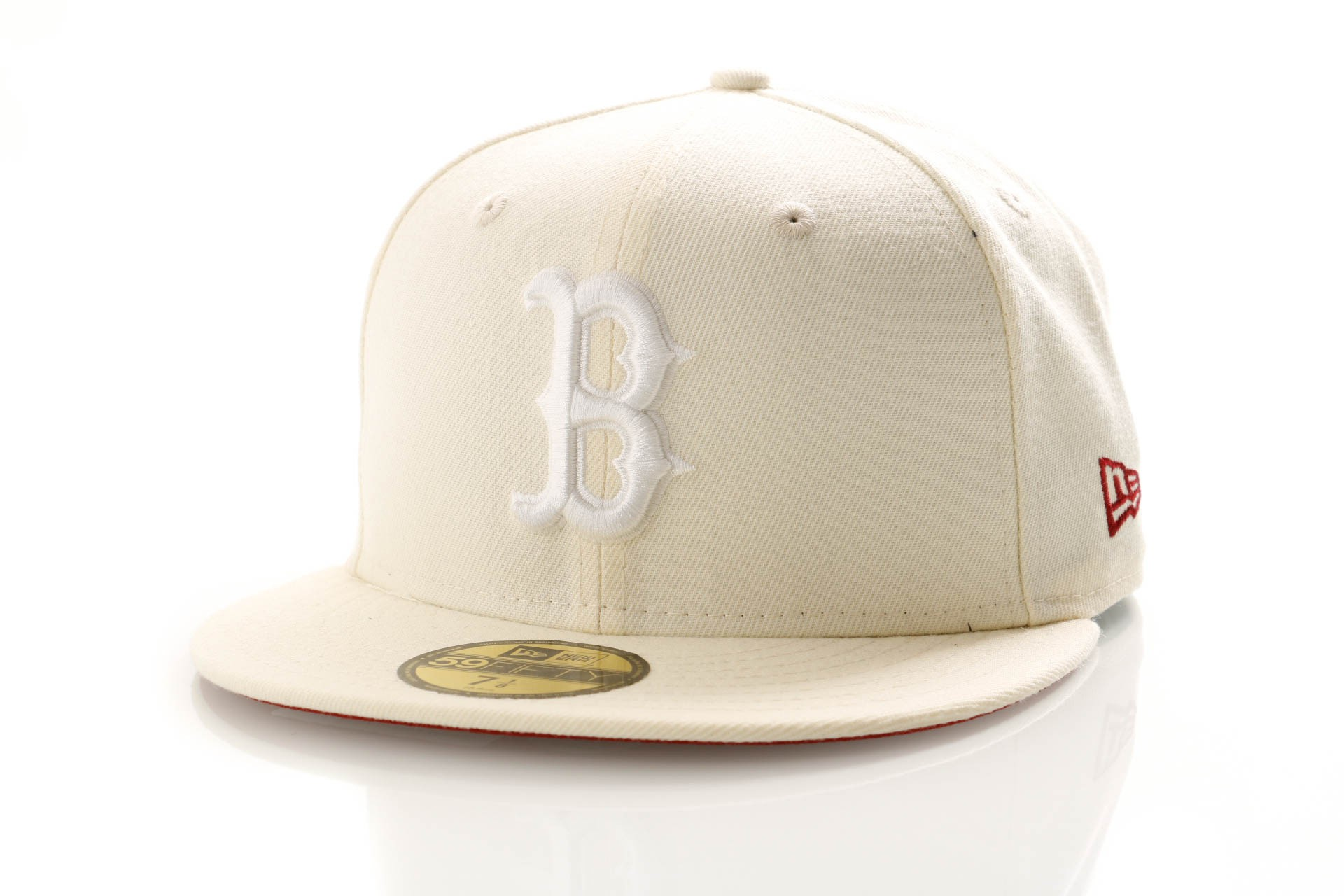 Foto van New Era League Essential 11945534 Fitted Cap Off White Boston Red Sox