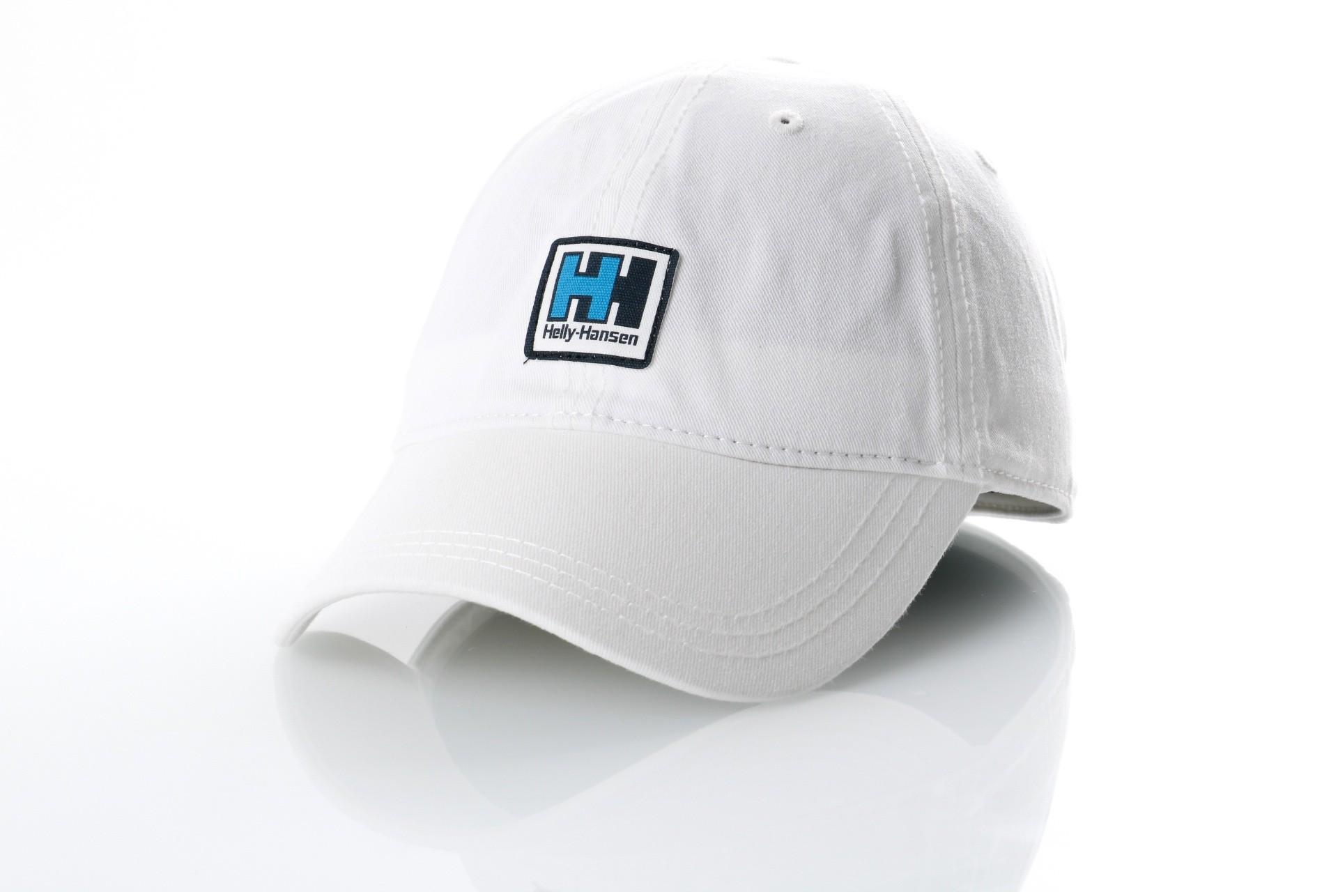 Foto van Helly Hansen 67199-001 Dad cap Logo cap Wit