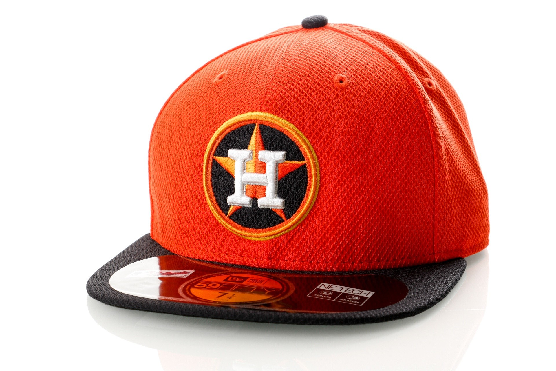 Foto van New Era Diamond Era 21184492 Fitted Cap Orange/Black MLB Houston Astros