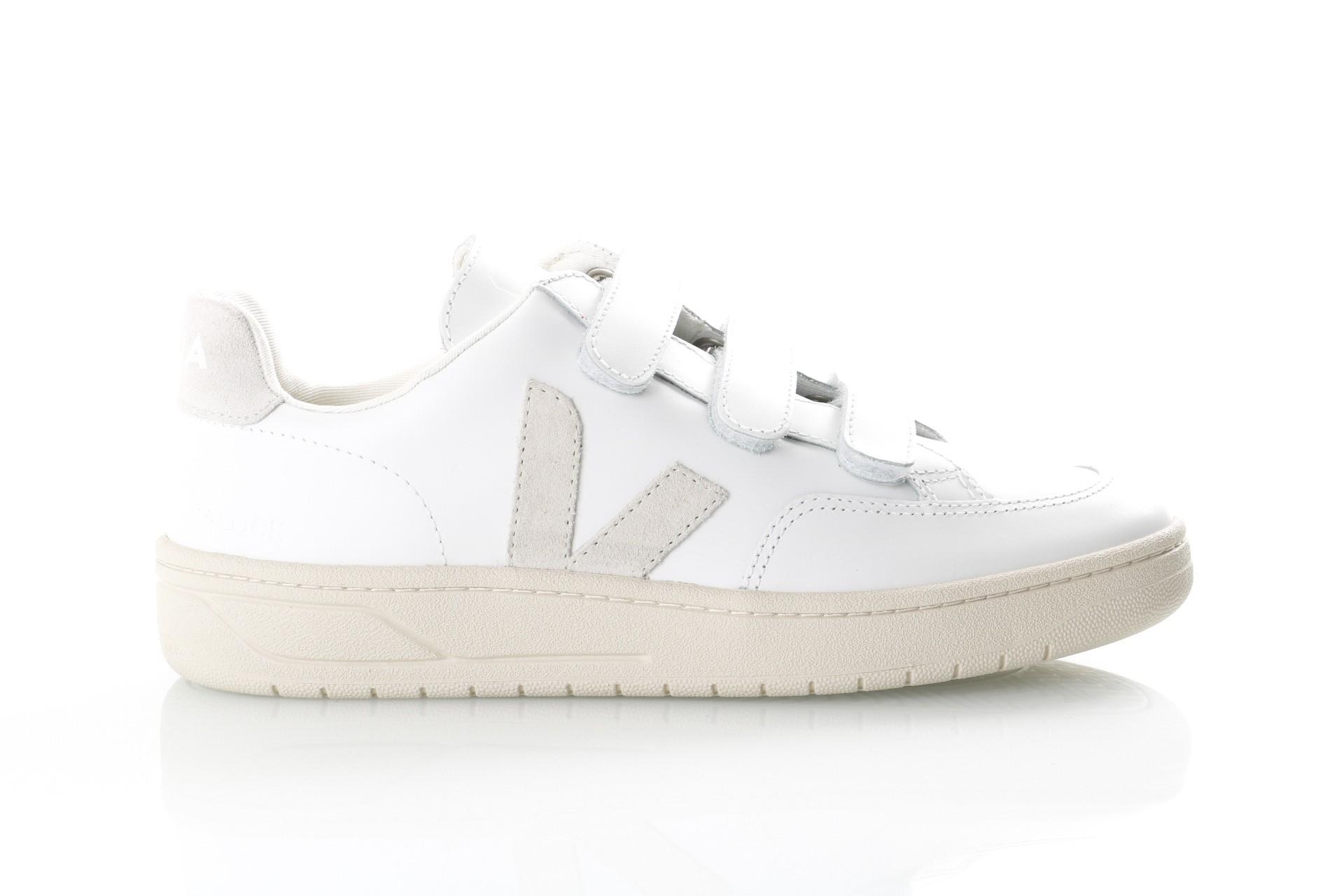 Foto van Veja V-12_Velcro Xc021535 Sneakers Extra White/ Natural