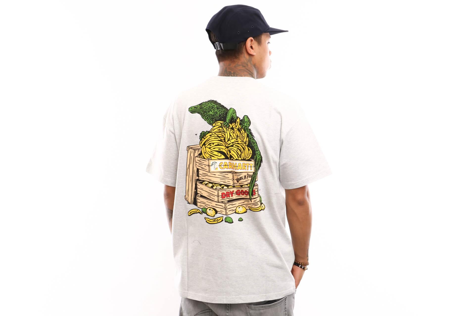 Foto van Carhartt WIP S/S Bad Cargo T-Shirt I026440 T shirt Ash Heather