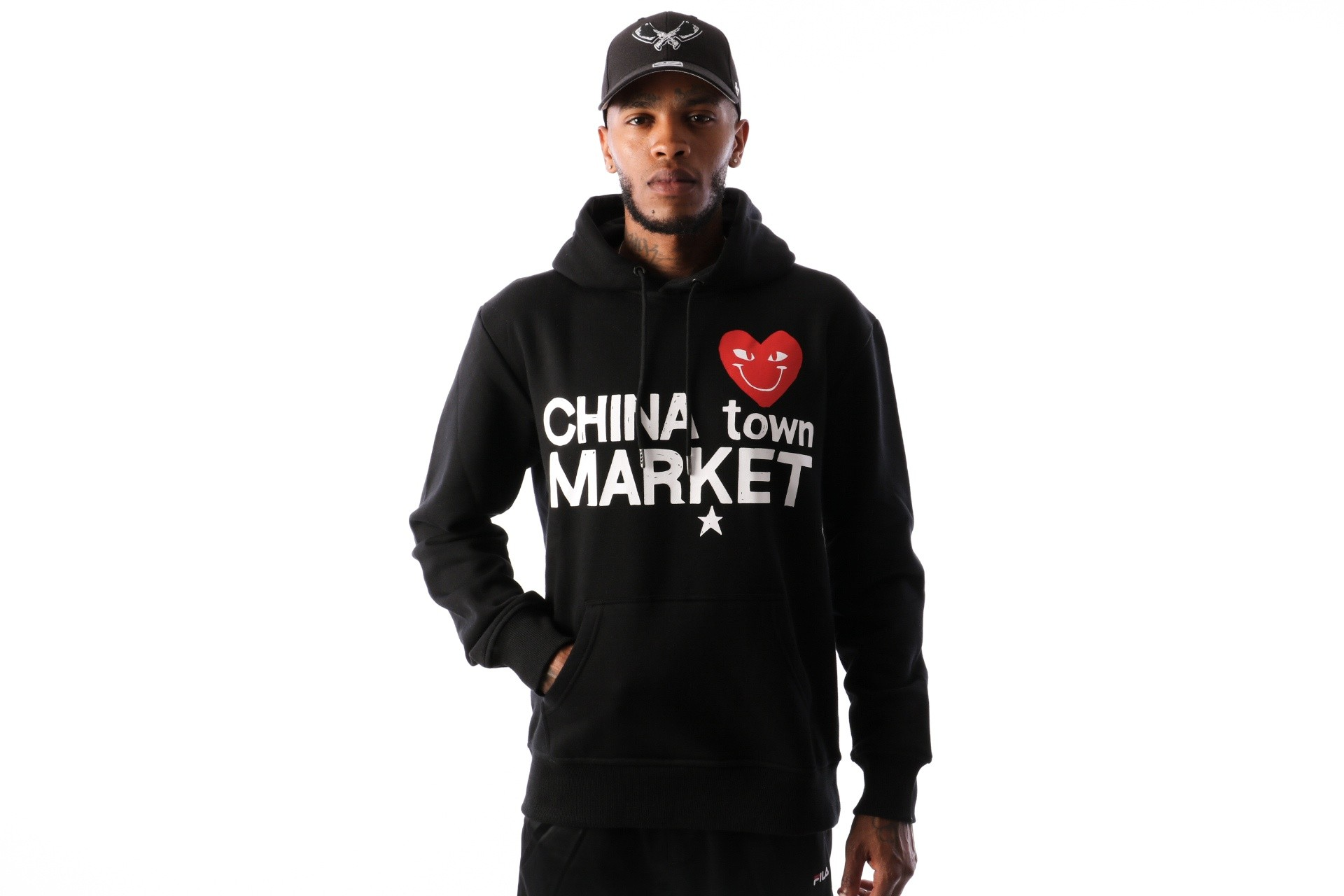 Foto van Chinatown Market Comme De Chinatown CTM-CDCHD Hooded Black