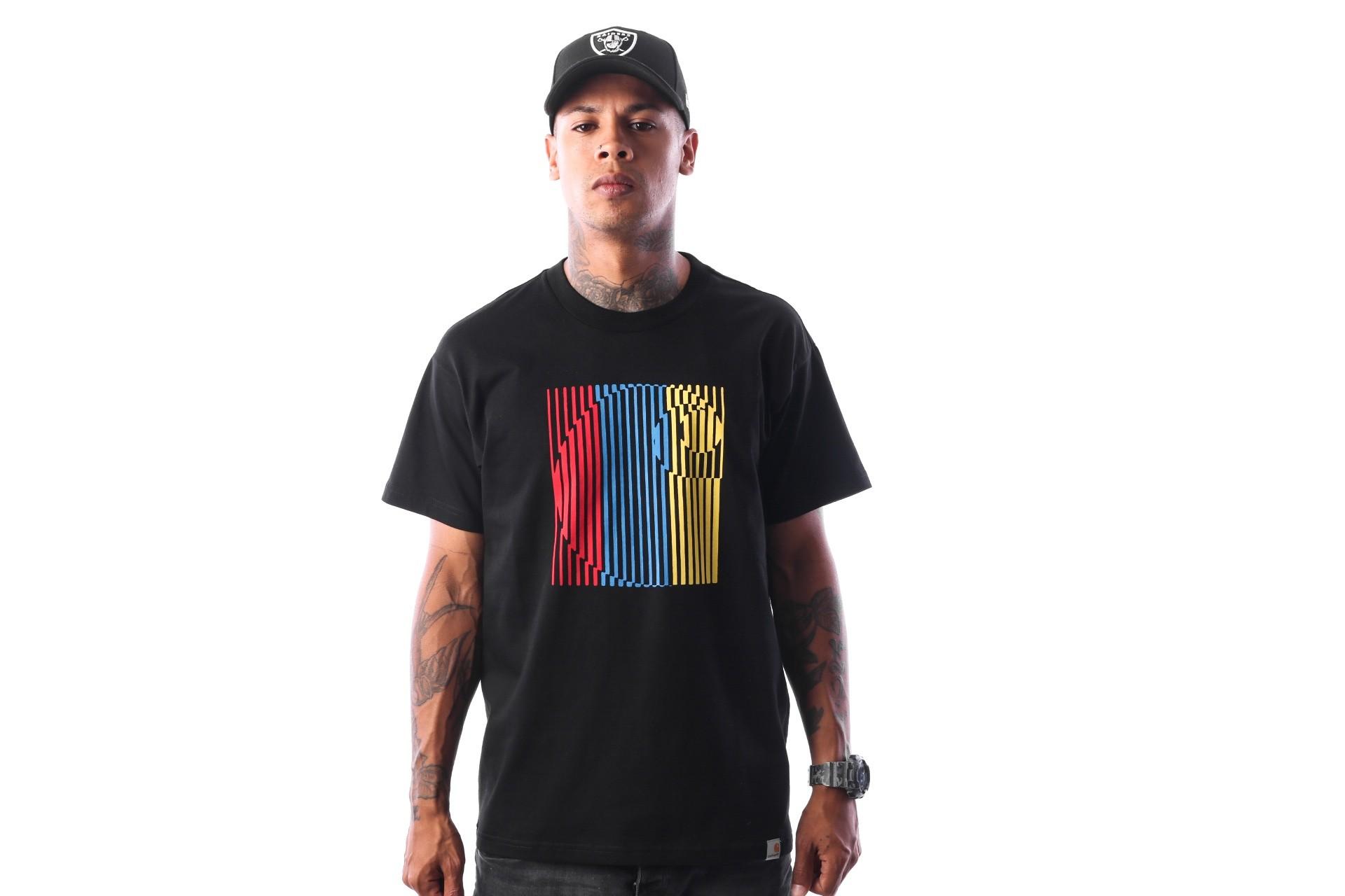 Foto van Carhartt WIP S/S Striped T-Shirt I025774 T-shirt Black