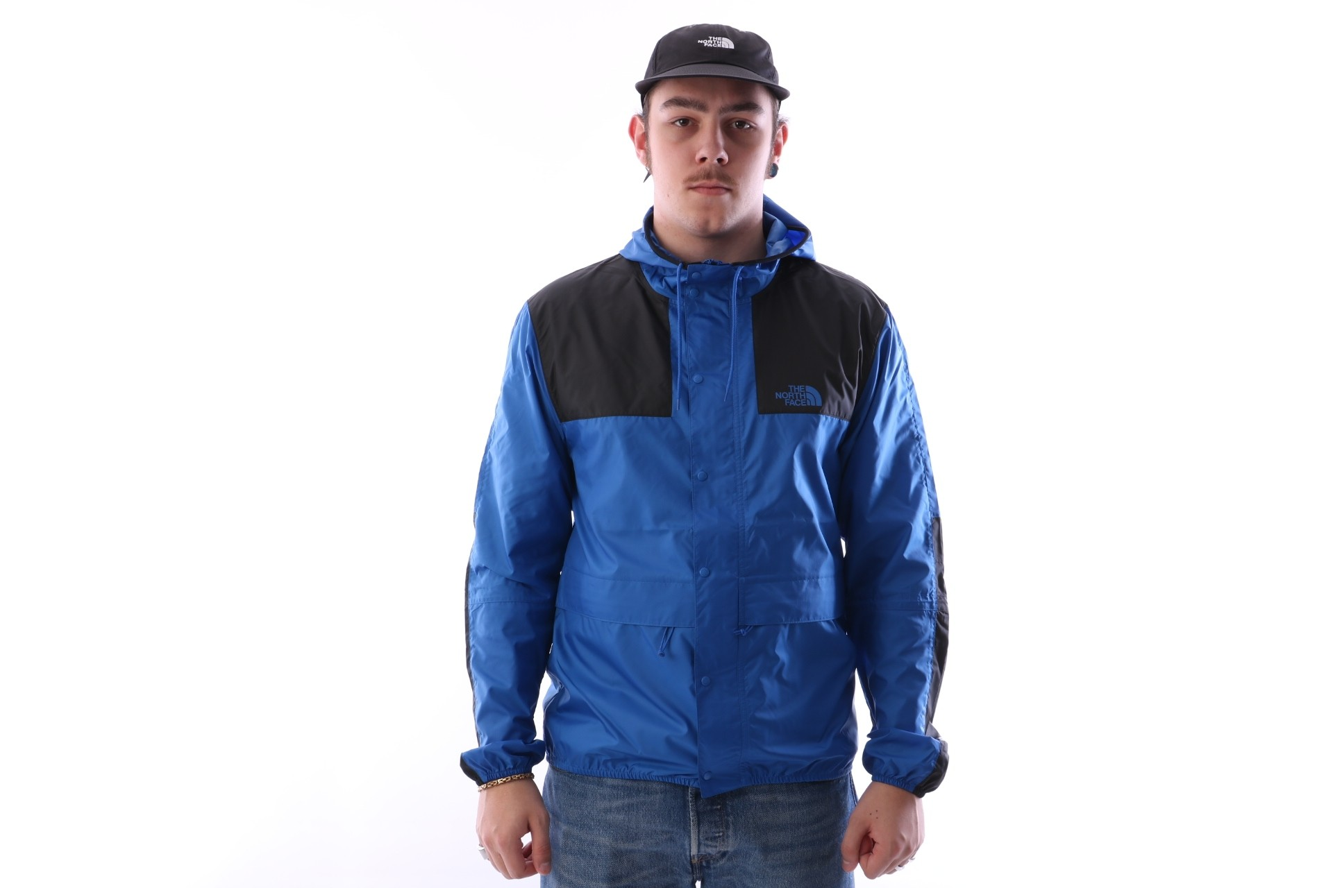 Foto van The North Face T0CH37-WXN Jacket 1985 mountain Blauw