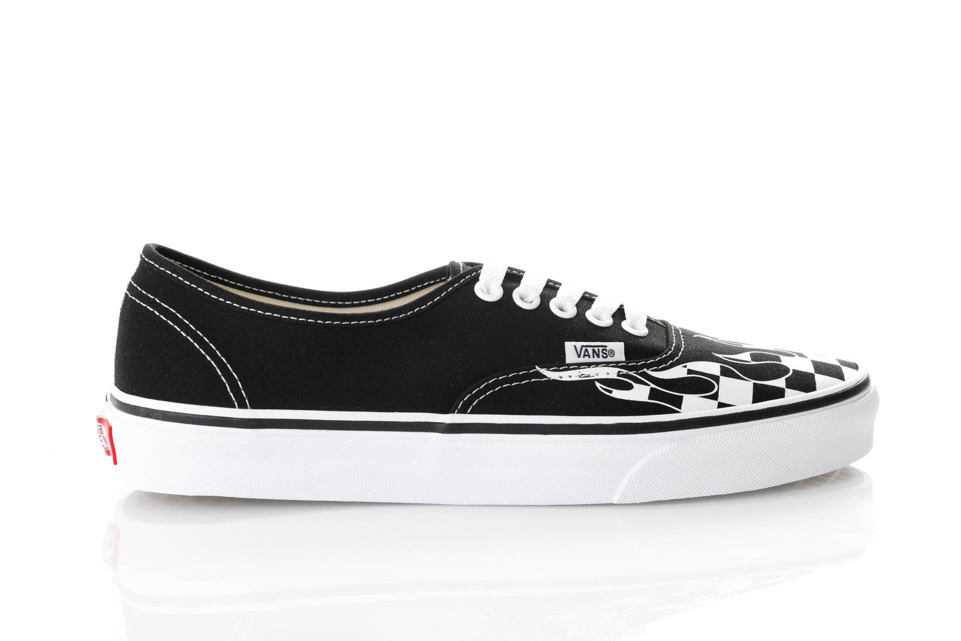 Foto van Vans UA Authentic VN0A38EMRX81 Sneakers (CHECKER FLAME) BLACK/TRU