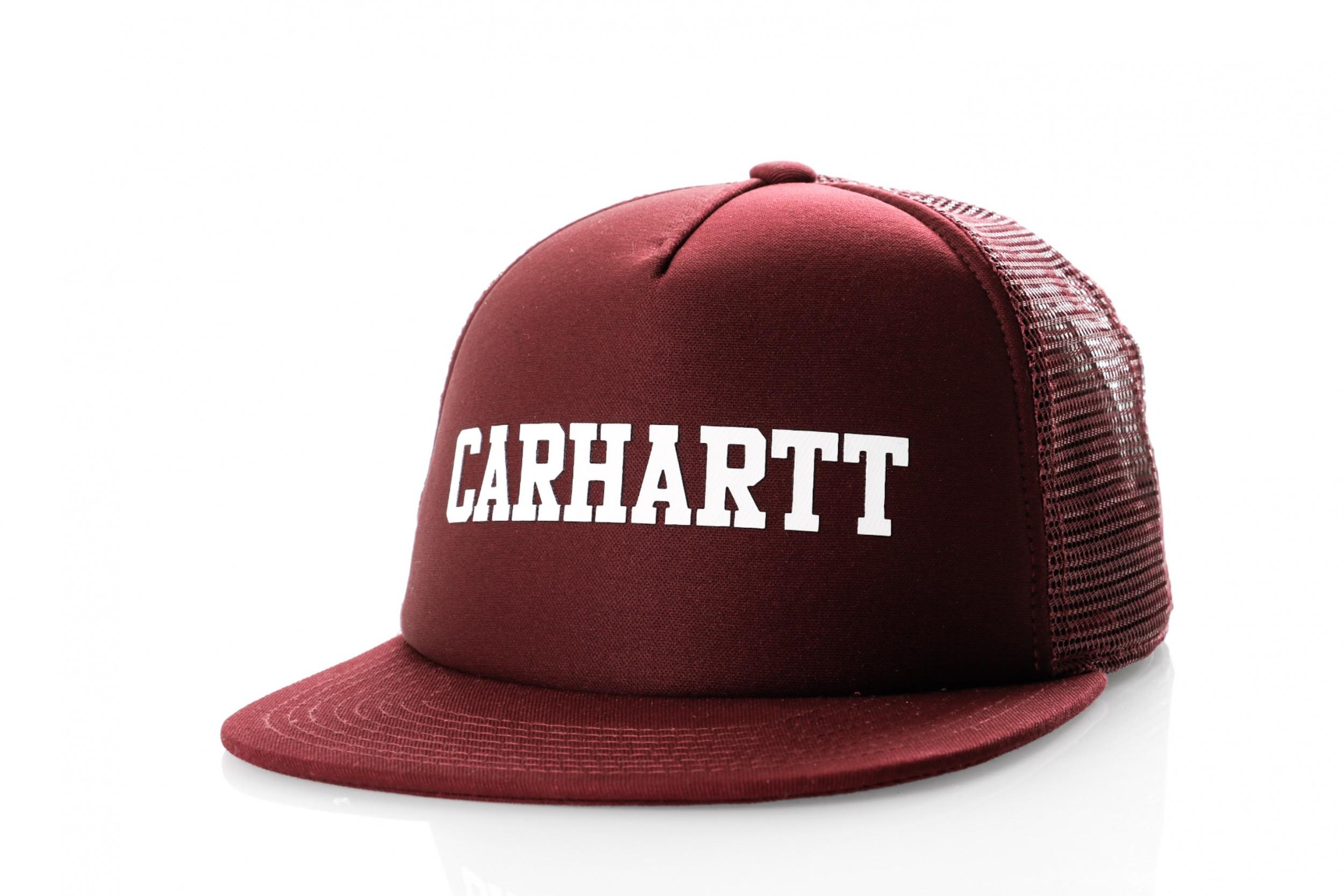 Foto van Carhartt Wip College Trucker Cap I025652 Trucker Cap Merlot / White