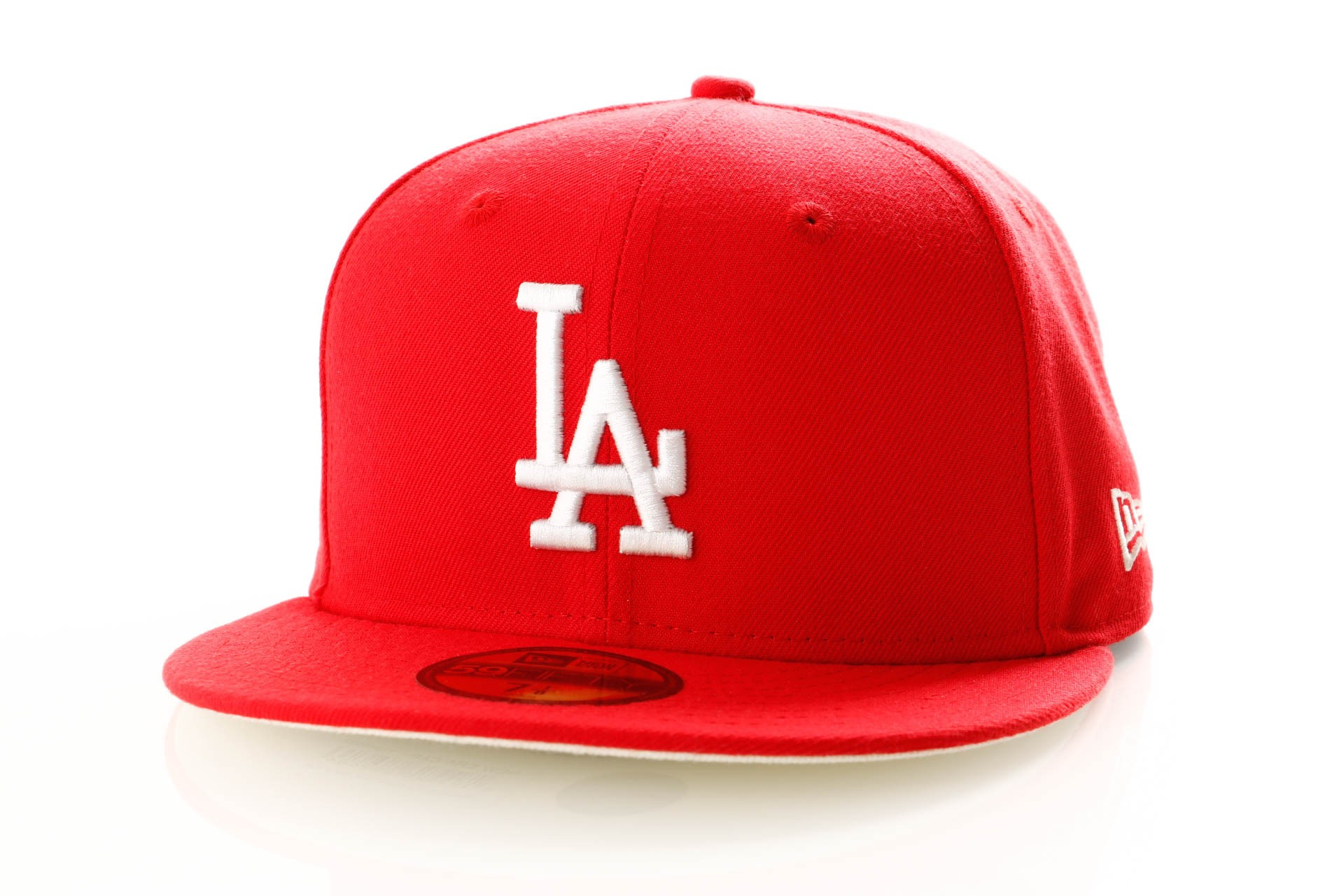 Foto van New Era League Essential 11945532 Fitted Cap Front Door Red Los Angeles Dodgers
