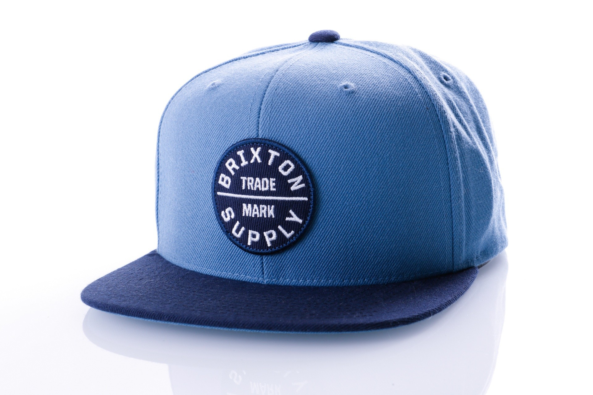 Foto van Brixton OATH III SNAPBACK 173 snapback cap GREY BLUE/NAVY